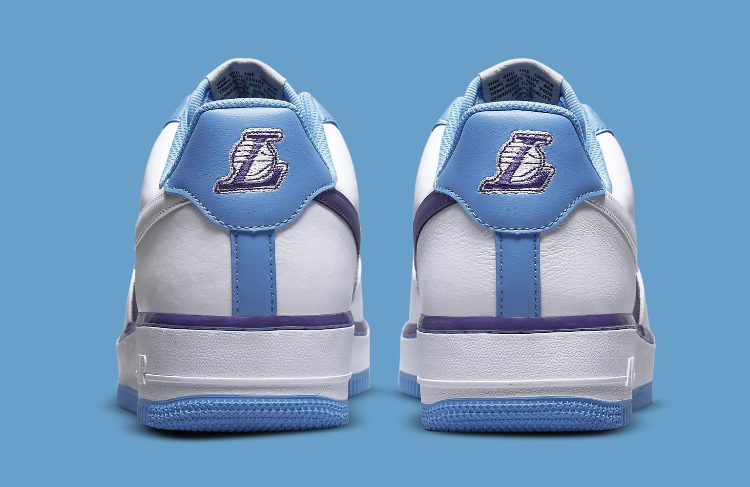 Nike Air Force 1 Low 'Lakers' NBA 75th Anniversary DC8874-101 Heel