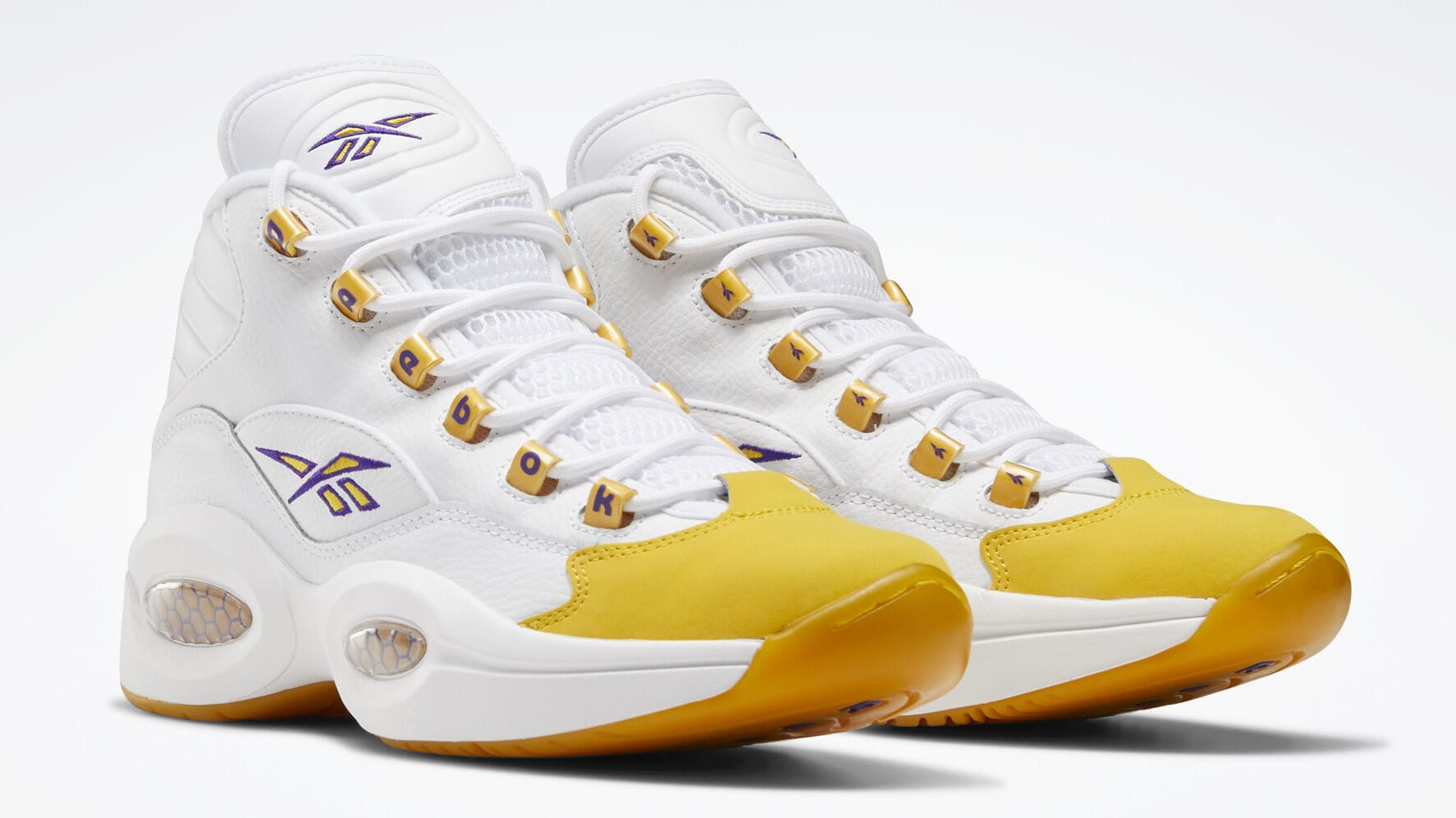 Reebok Question Kobe Yellow Toe Release Date Pair