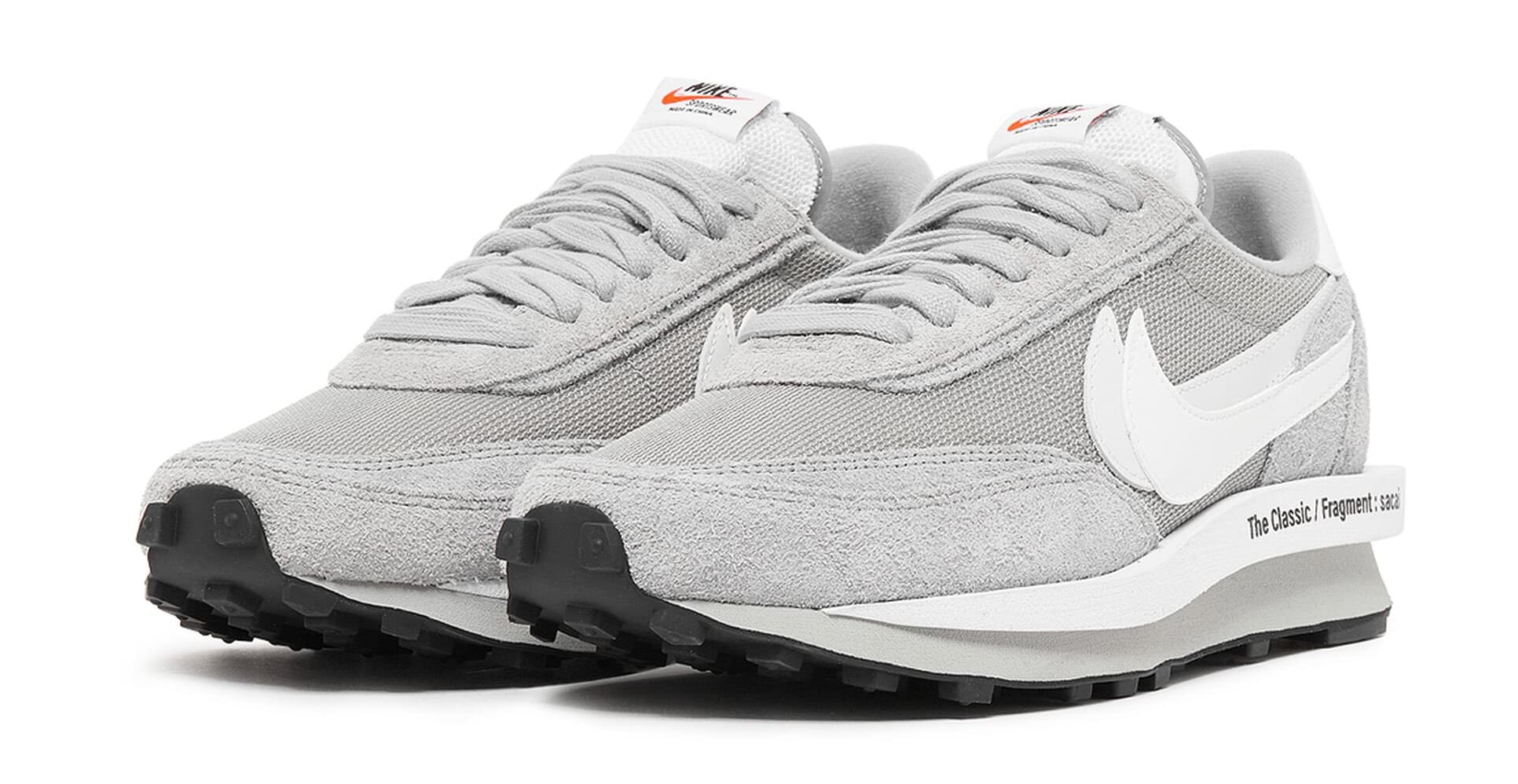 Fragment x Sacai x Nike LDWaffle 'Grey' DH2684-001 Pair