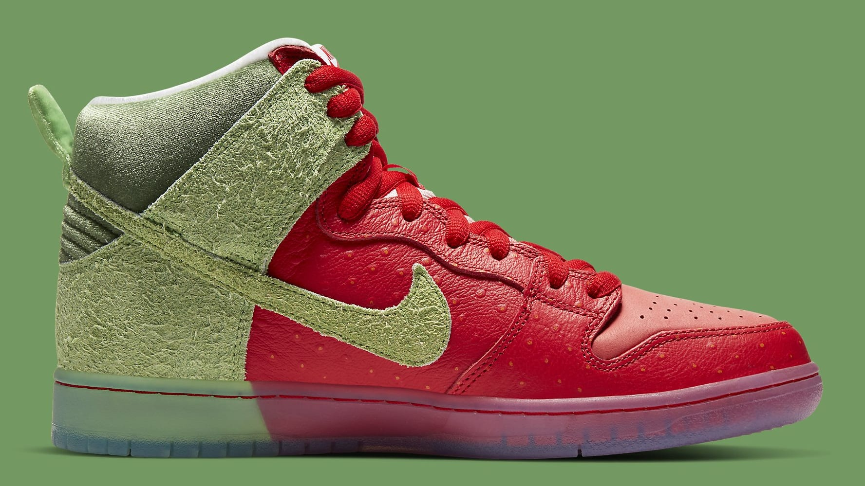 Strawberry Cough x Nike SB Dunk High SW7093-600 Release Date Medial