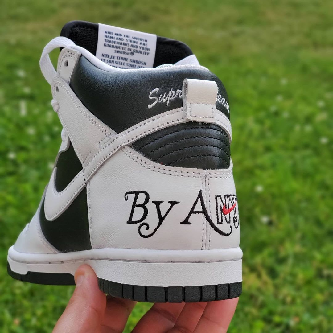 Supreme x Nike SB Dunk High 'By Any Means' (Heel 2)