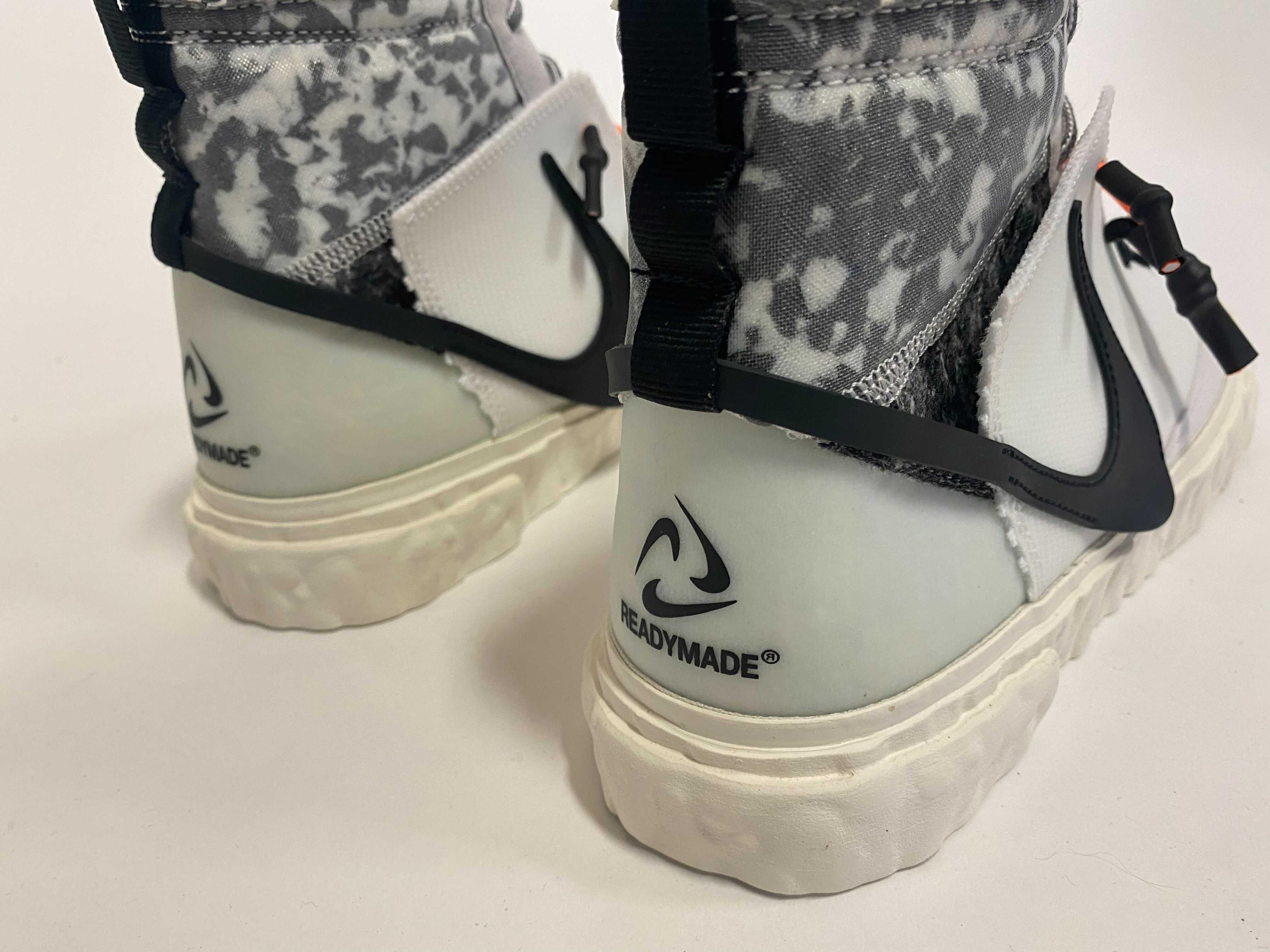 Readymade x Nike Blazer Mid 'White' (Heel)