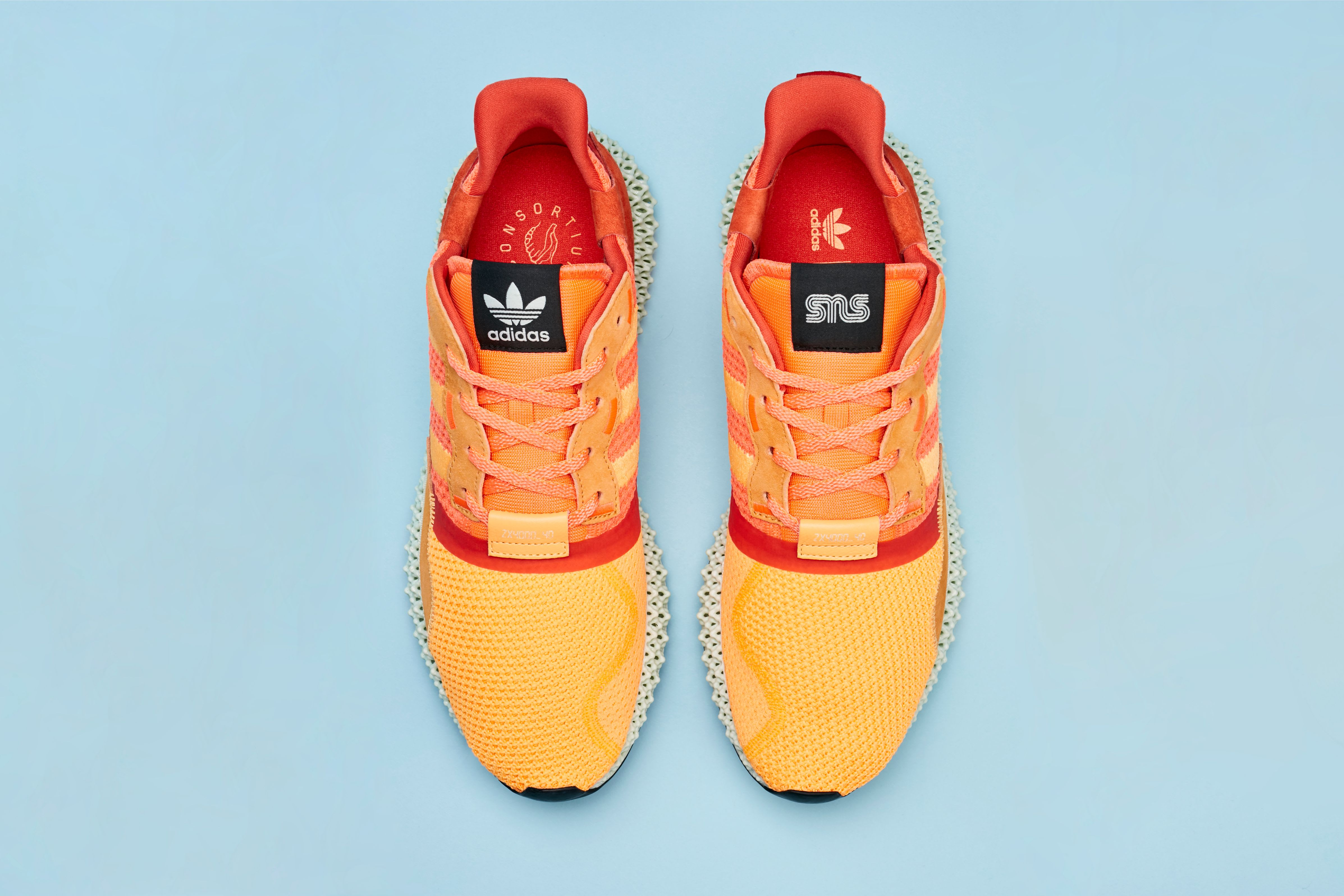 Sneakersnstuff x Adidas Consortium ZX 4000 4D 'Sunrise' (Top)