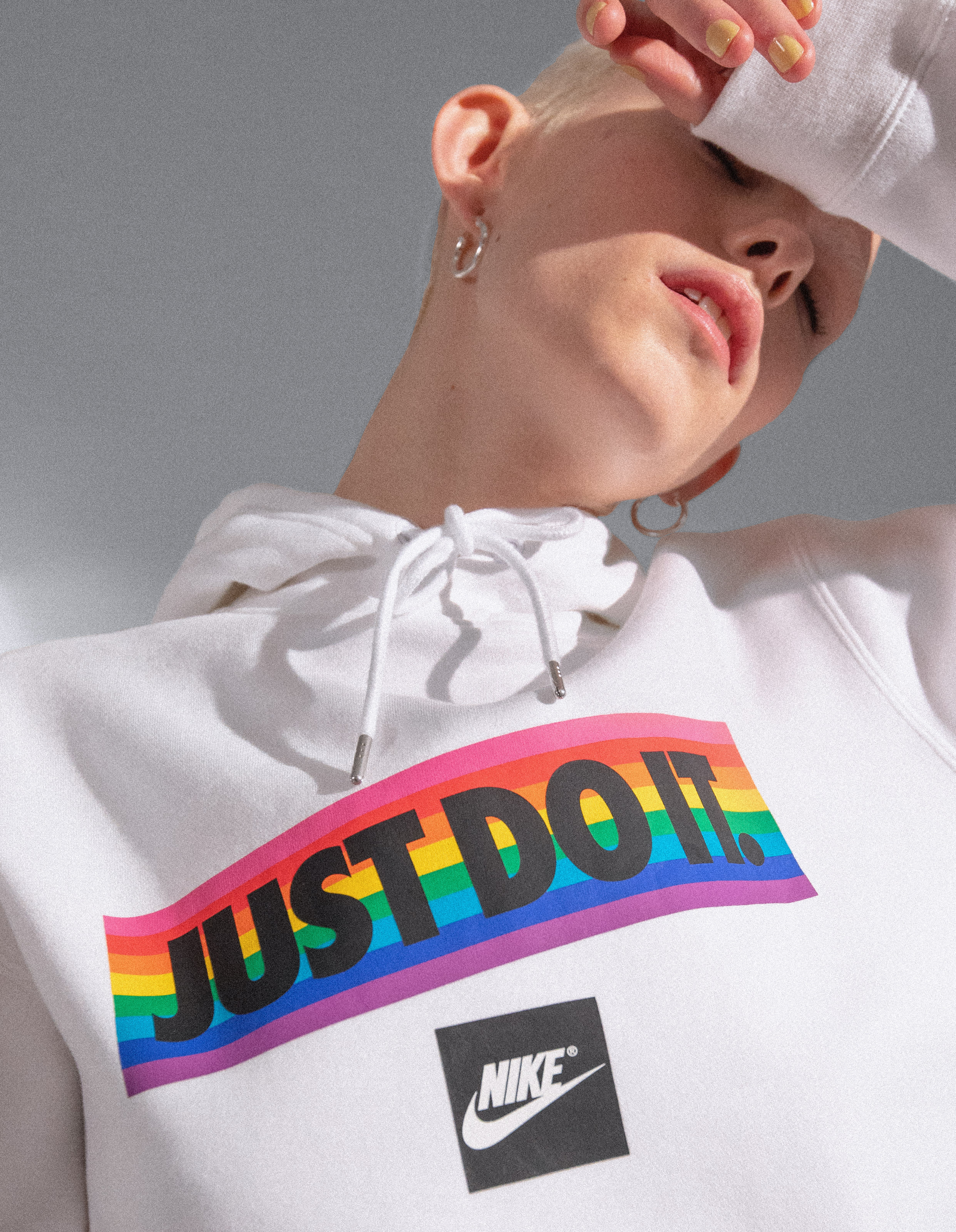 Nike Be True Just Do It Hoodie White