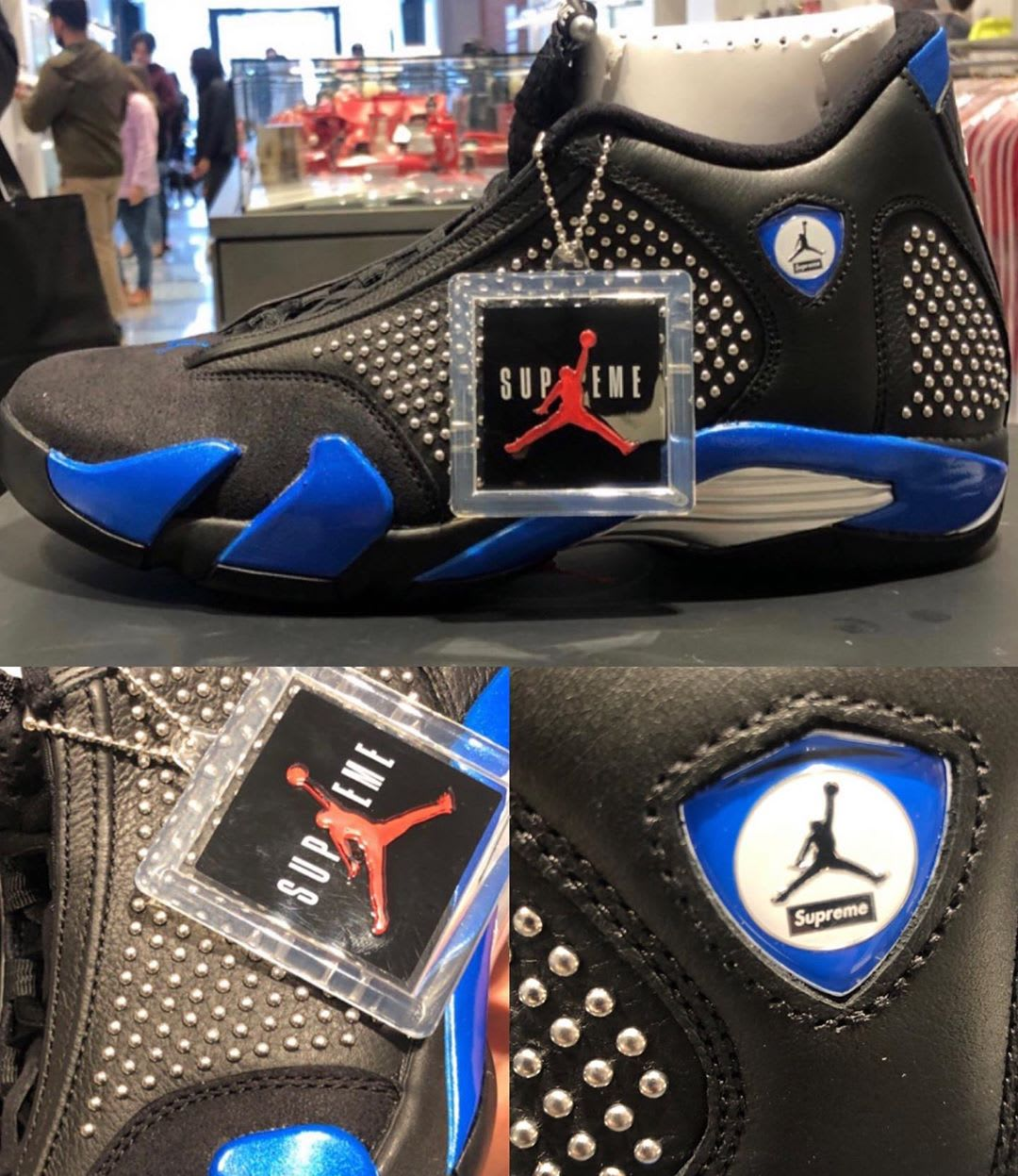 Supreme x Air Jordan 14 Black Blue Release Date