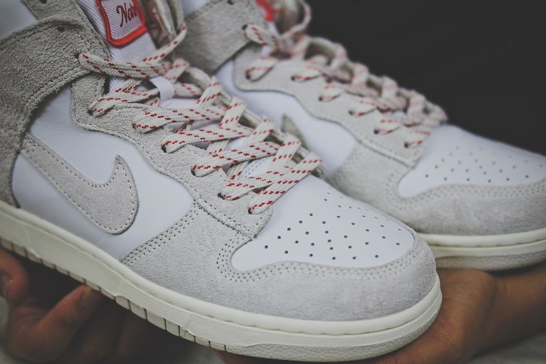 Notre x Nike Dunk High White/Red Side