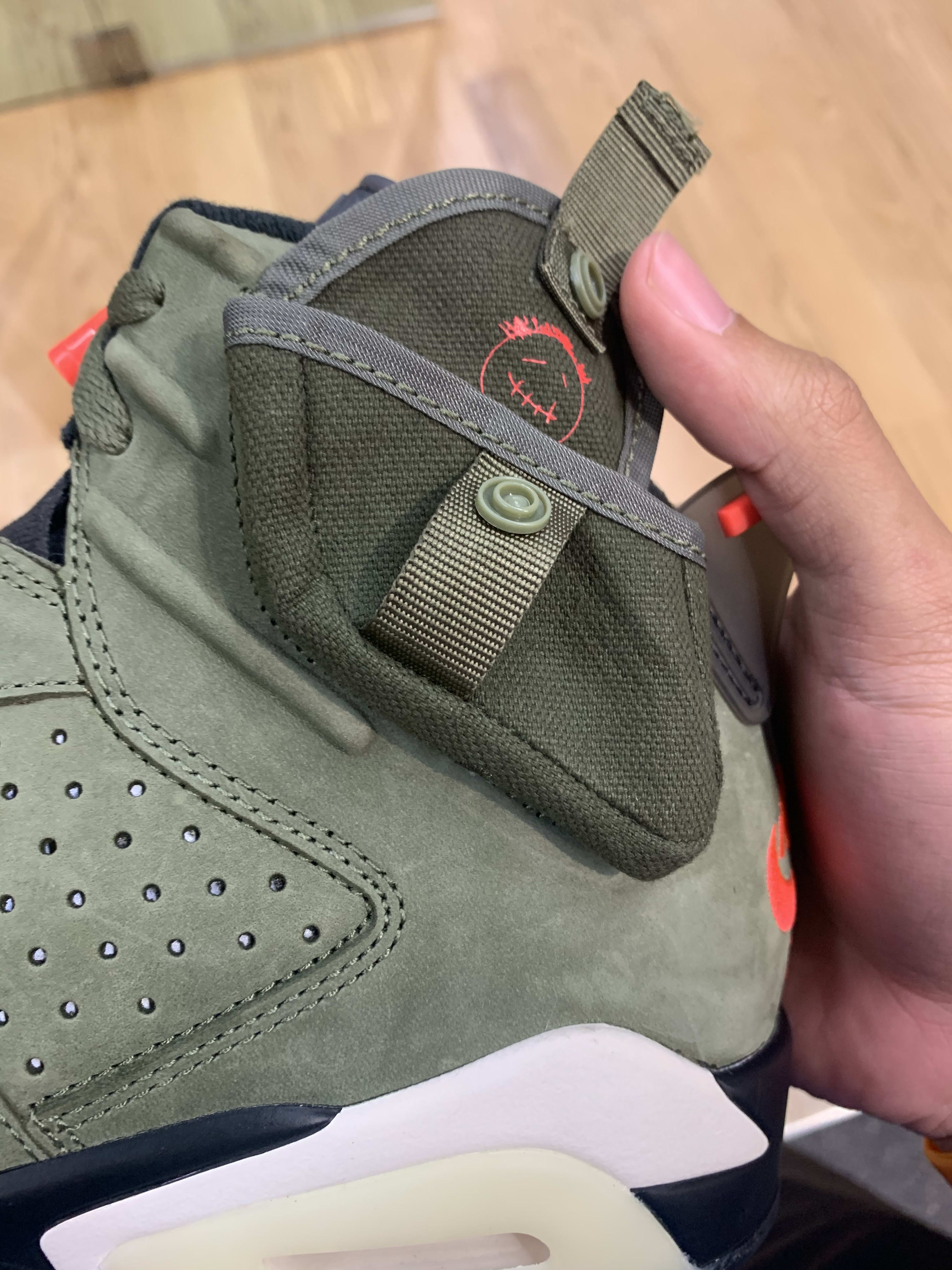 Travis Scott x Air Jordan 6 'Medium Olive/Black/Sail/University Red' CN1084-200 (Pocket)