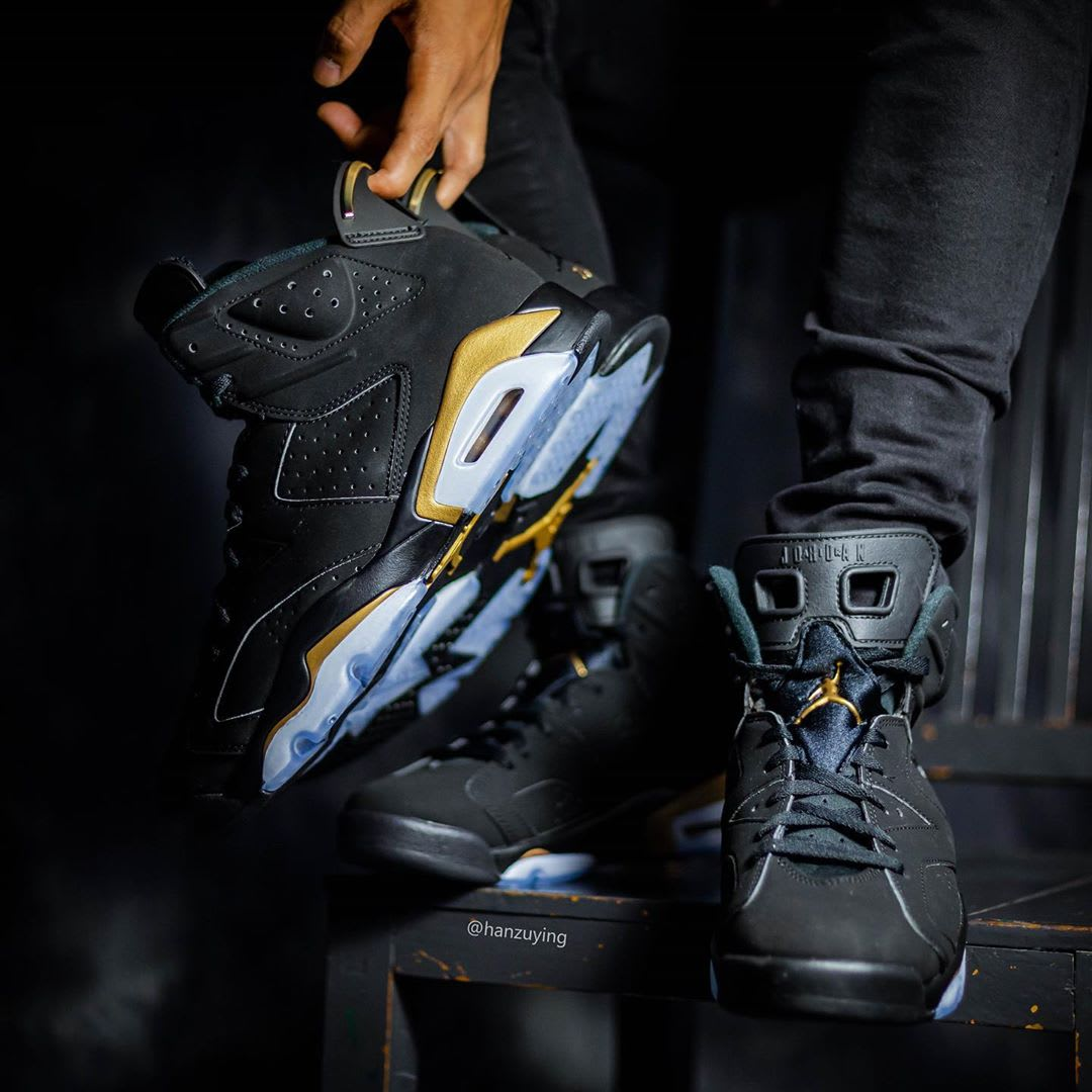 Air Jordan 6 DMP Release Date CT4594-007 On-Foot Tongue