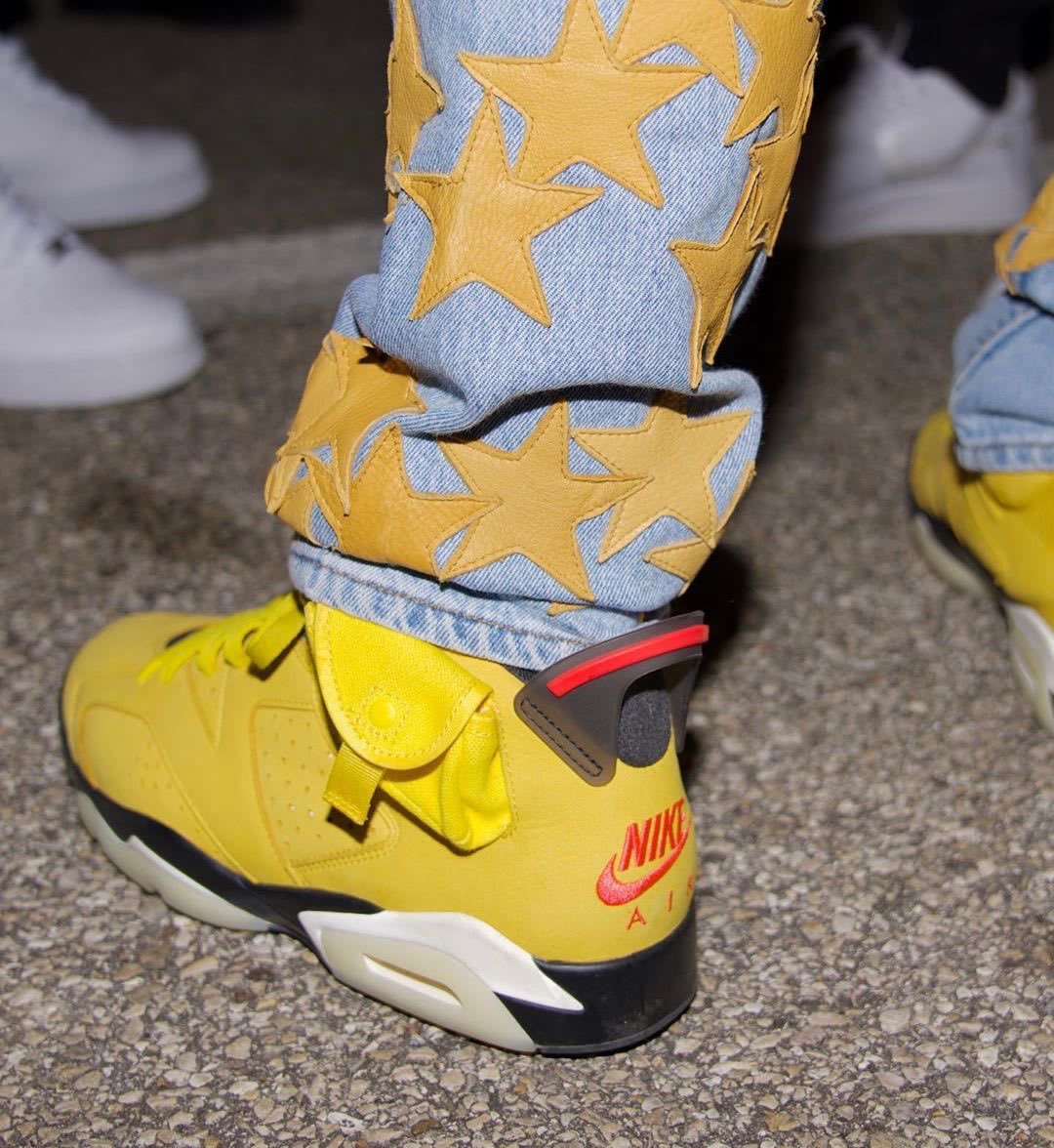 Travis Scott x Air Jordan 6 Mustard Offset Side