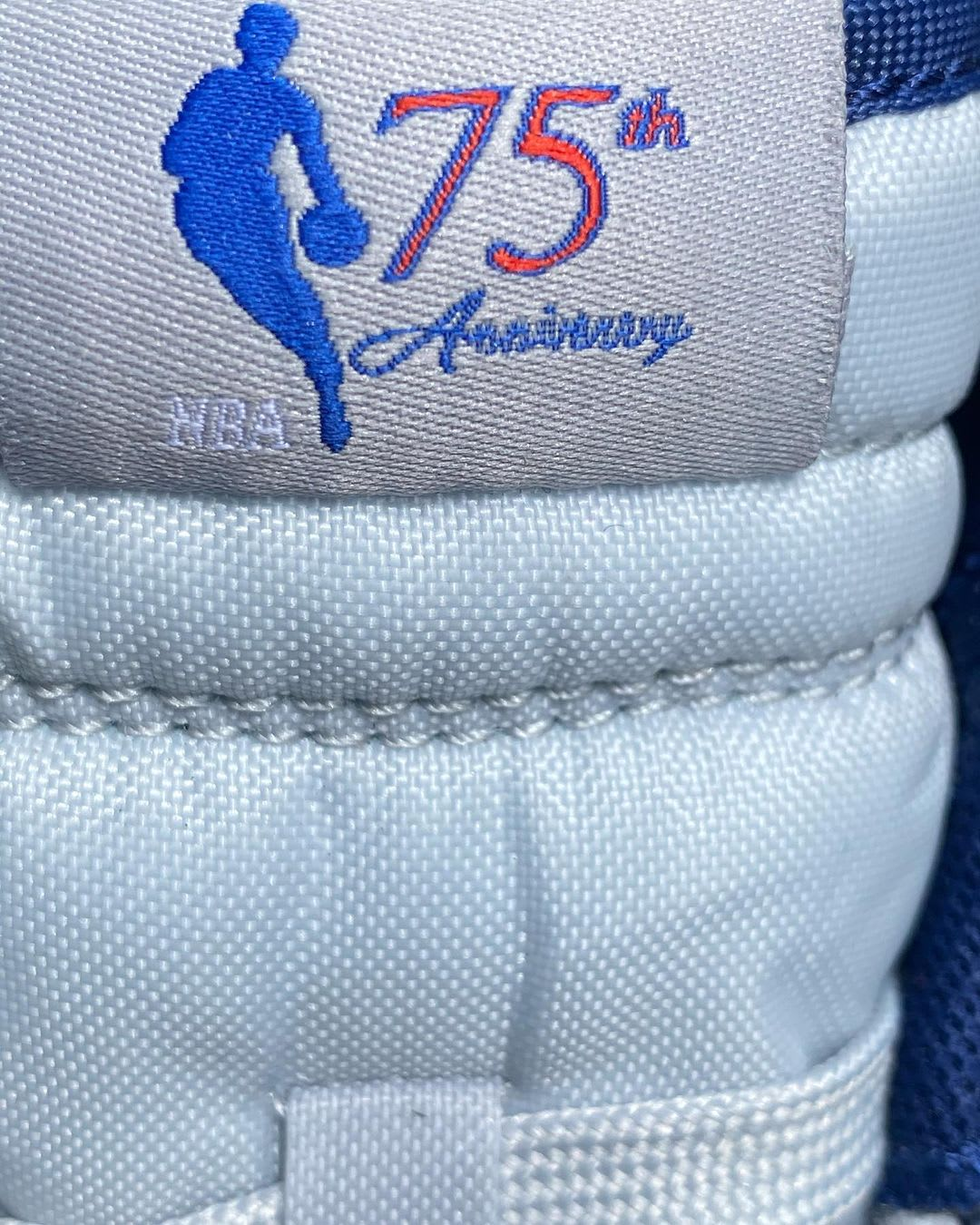 NBA x Nike Dunk Low '75th Anniversary' Brooklyn Nets Front Tongue