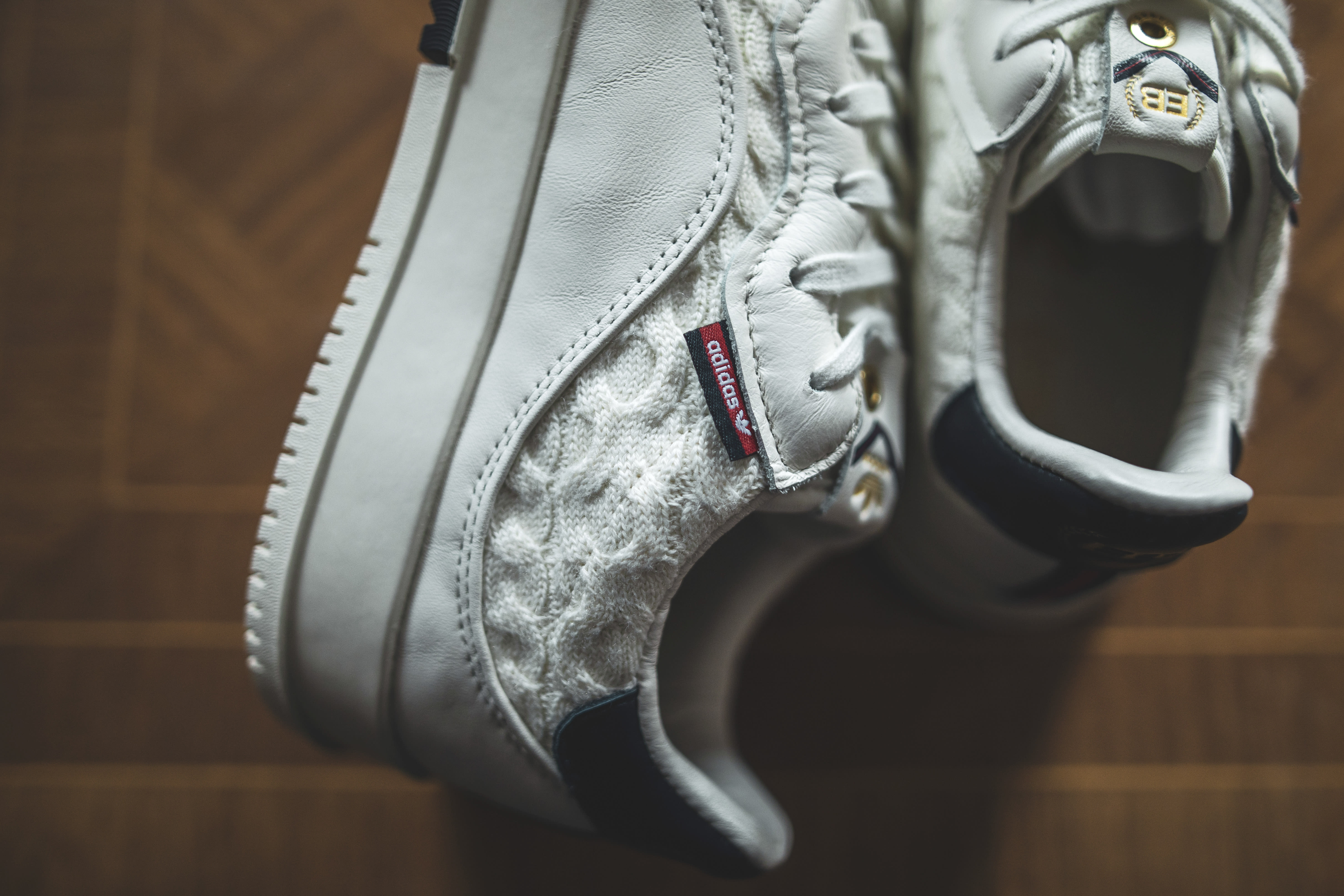 Extra Butter x Adidas SC Premiere White 'Cable Knit' Side