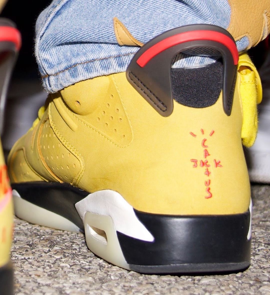 Travis Scott x Air Jordan 6 Mustard Offset Back
