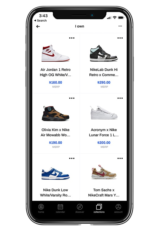 Sole Collector App 3