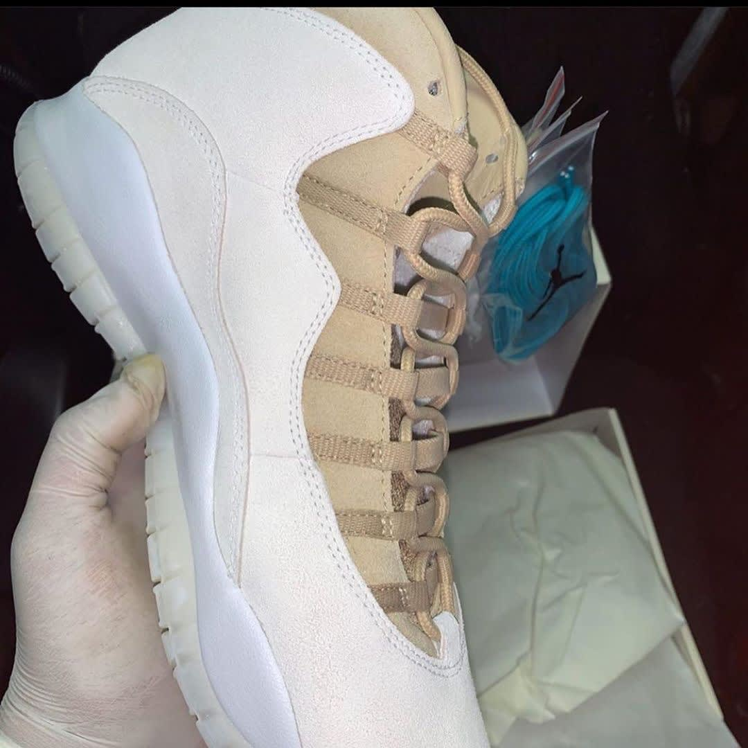 SoleFly x Air Jordan 10 Anniversary Release Date CW5854-200 Medial