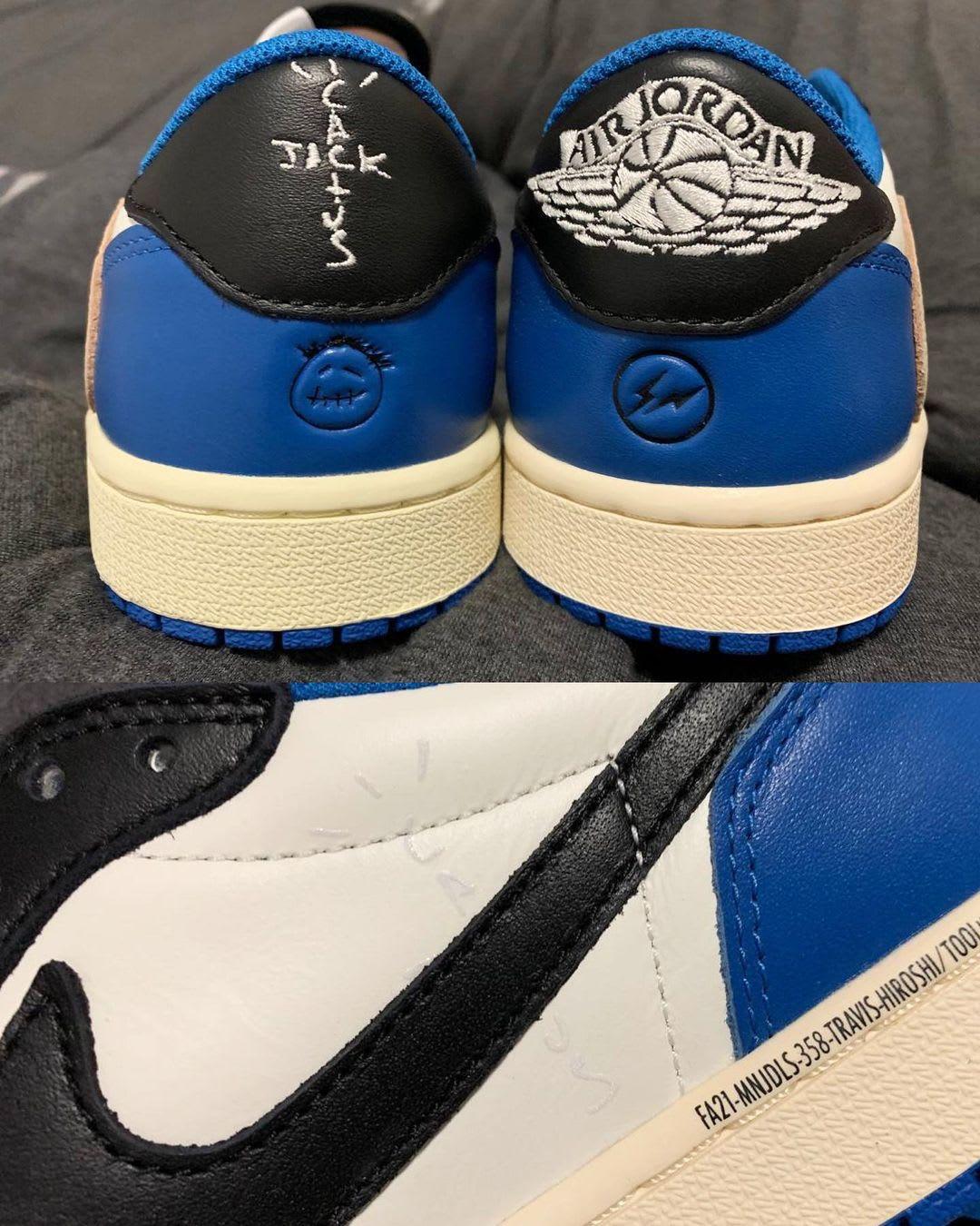 Fragment x Travis Scott x Air Jordan 1 Low Heel