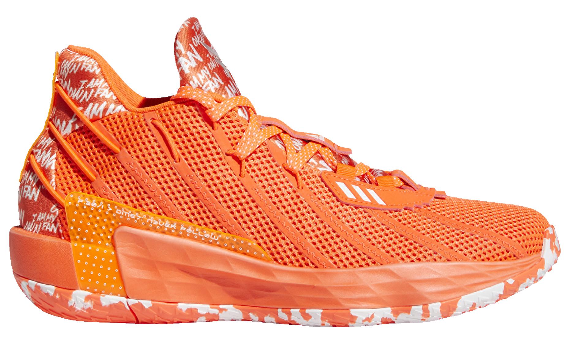 Adidas Dame 7 'Orange' Lateral