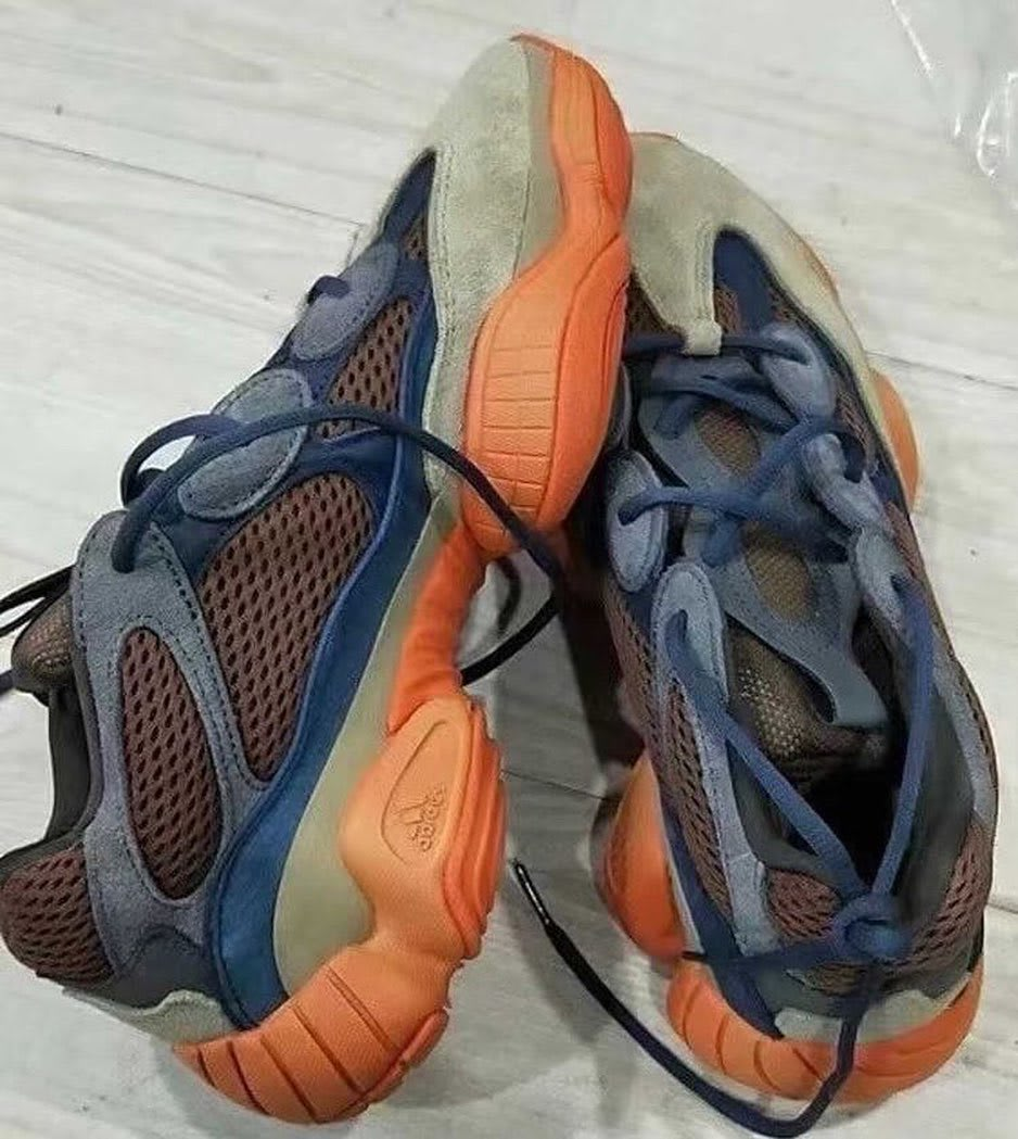 Adidas Yeezy 500 Brown Blue Orange Release Date Top