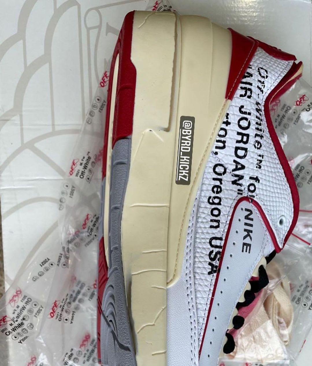 Off-White x Air Jordan 2 Low White/Red