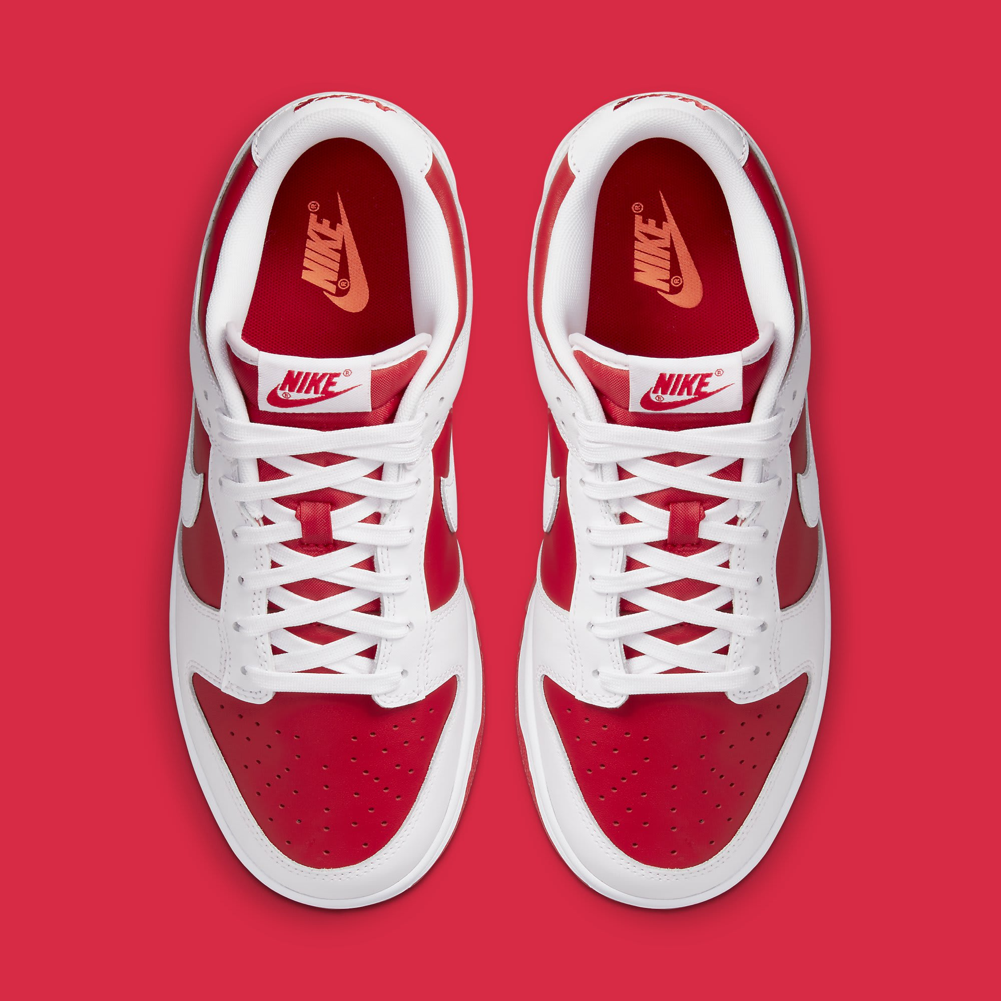 Nike Dunk Low Championship Red DD1391-600 Release Date Top