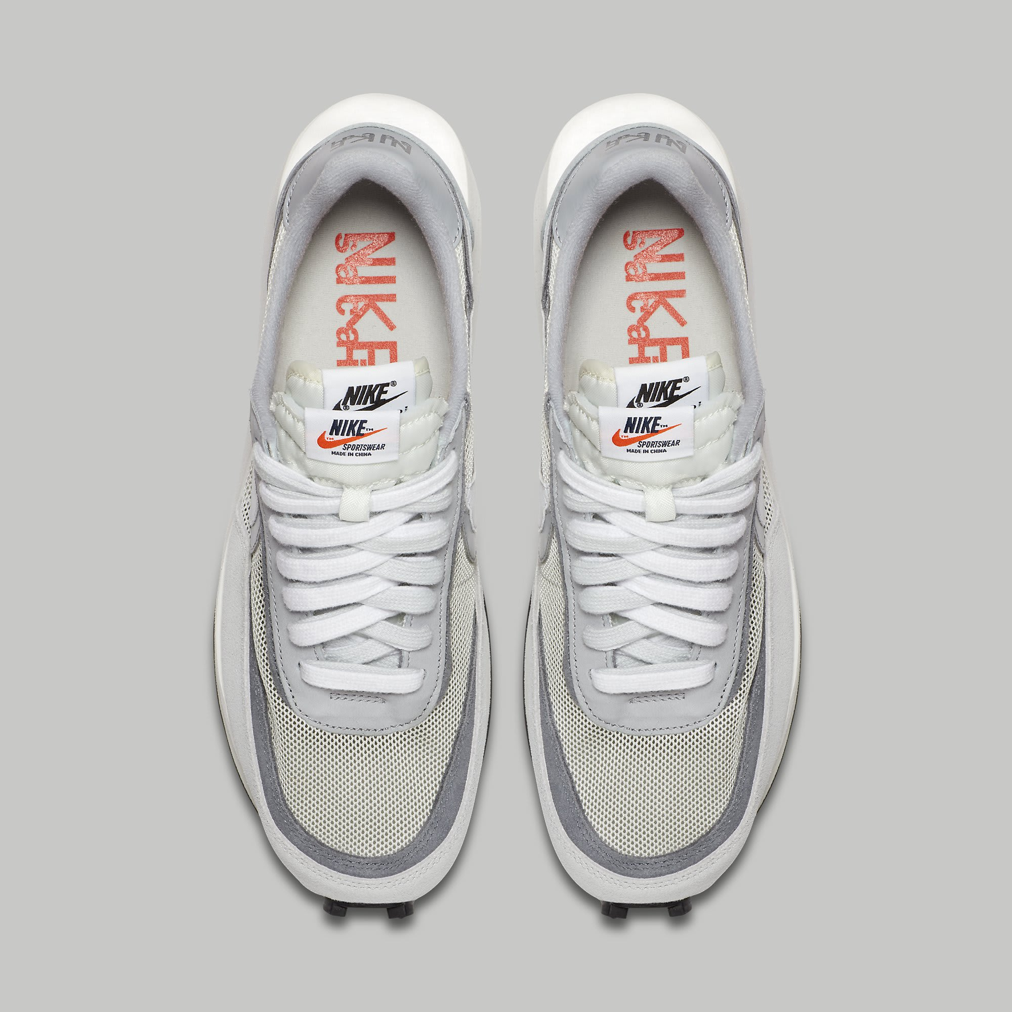 Sacai Nike LDWaffle Summit White Wolf Grey Release Date BV0073-100 Top
