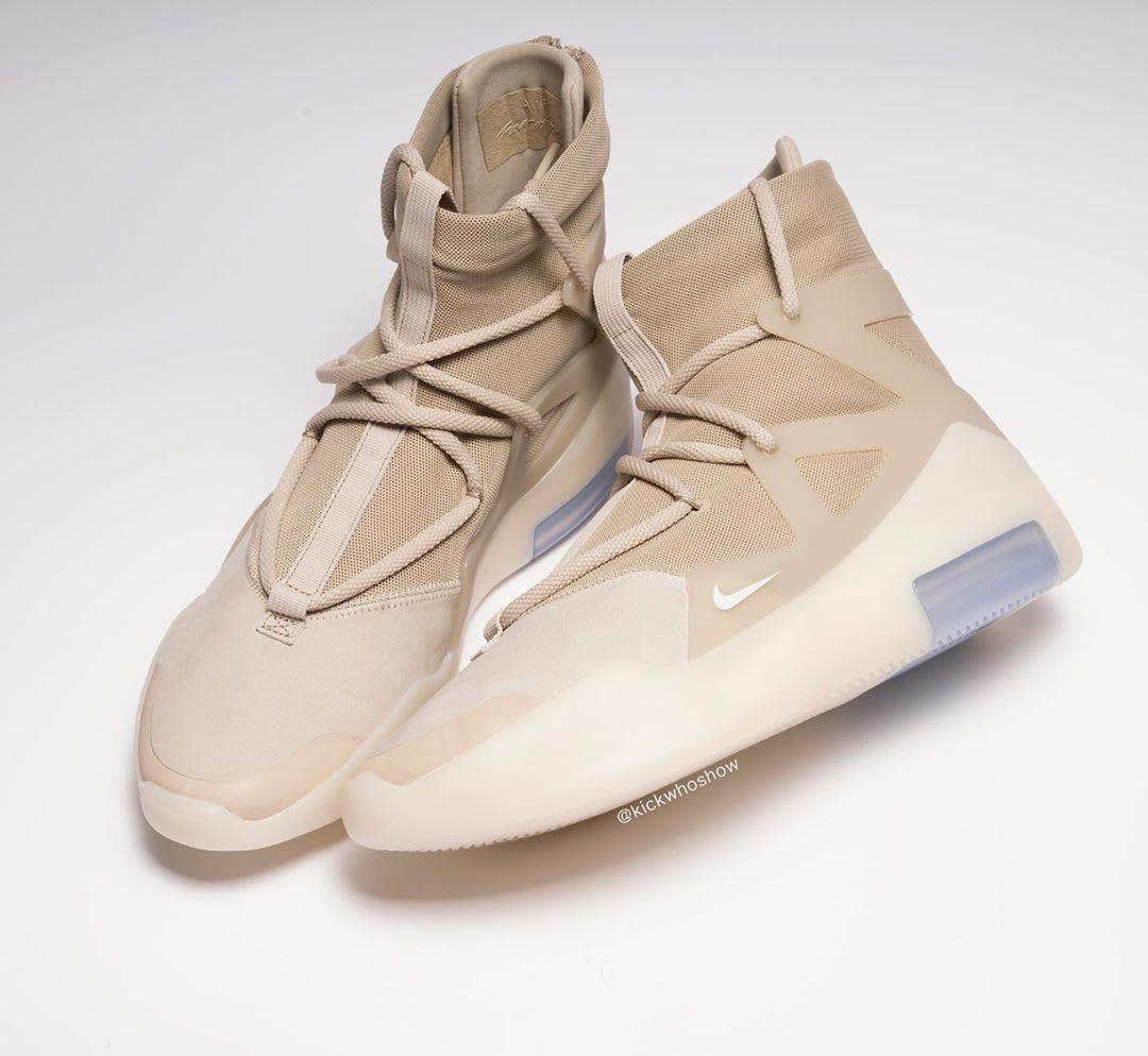 Nike Air Fear of God 1 Oatmeal Release Date AR4237-900 Top