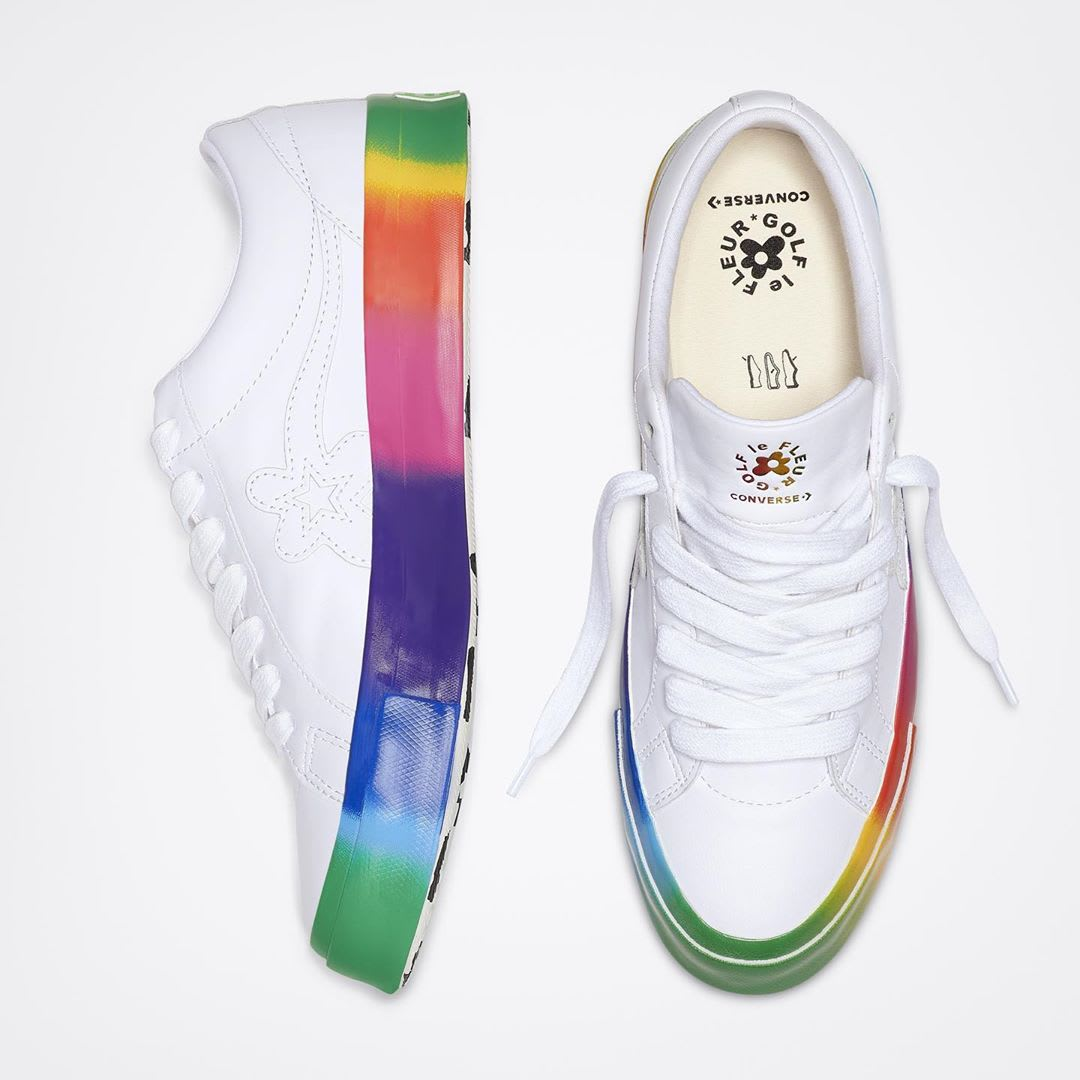 Tyler, the Creator Golf le Fleur Converse One Star Pride Release Date Top