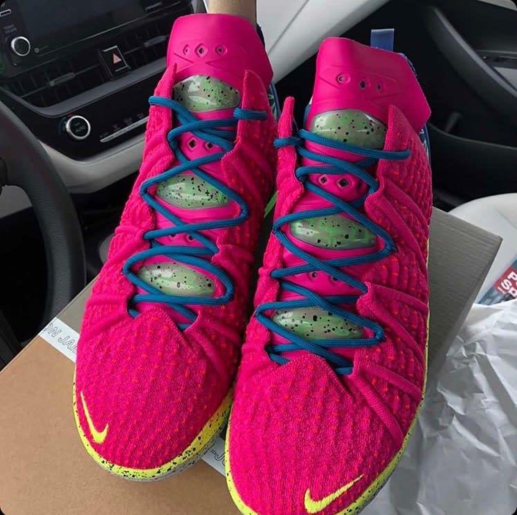 Nike LeBron 18 LA Nights Pink Prime Multicolor Release Date DB8148-600 Front