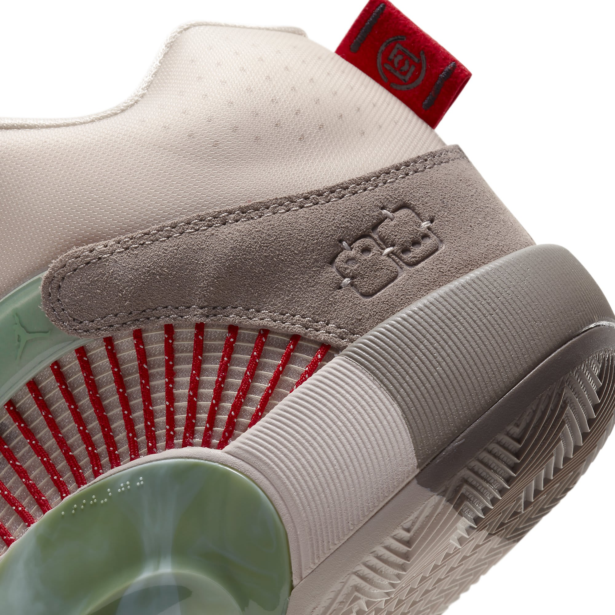 CLOT x Air Jordan 35 DD9322-200 Heel