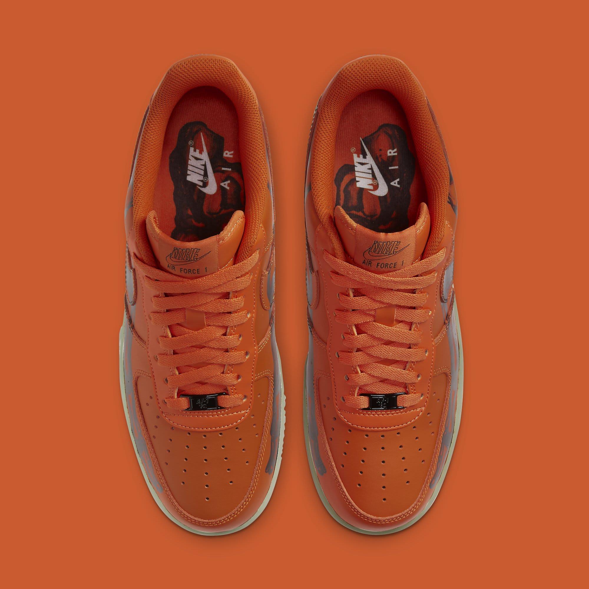 Nike Air Force 1 Low Skeleton 'Orange' CU8067-800 Top