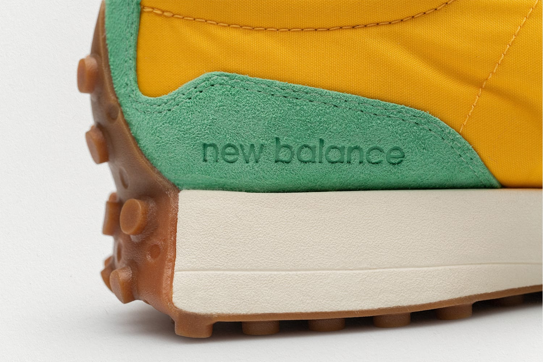 size? x New Balance 327 'yellow/green/orange' Heel