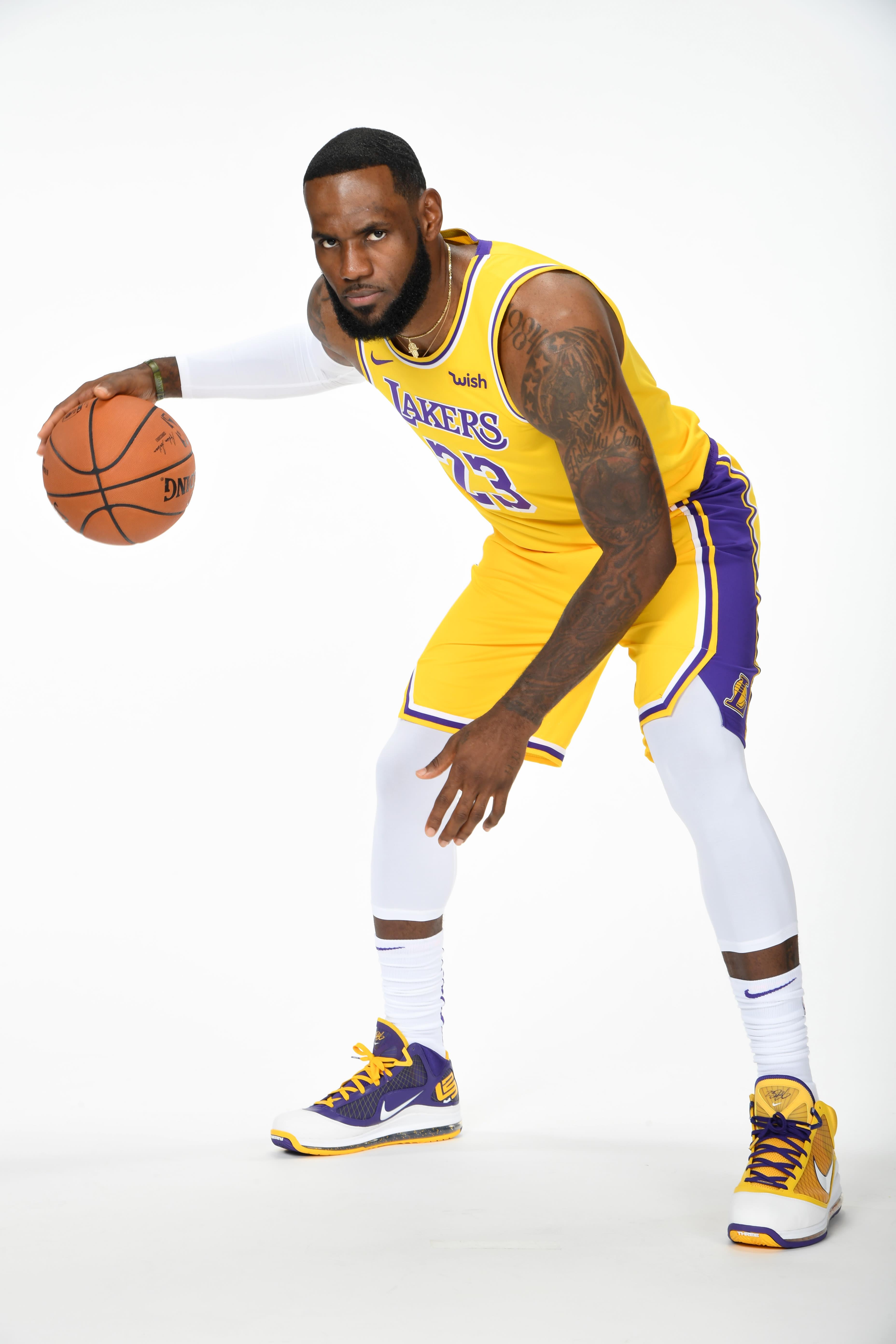 LeBron James Nike LeBron 7 Lakers