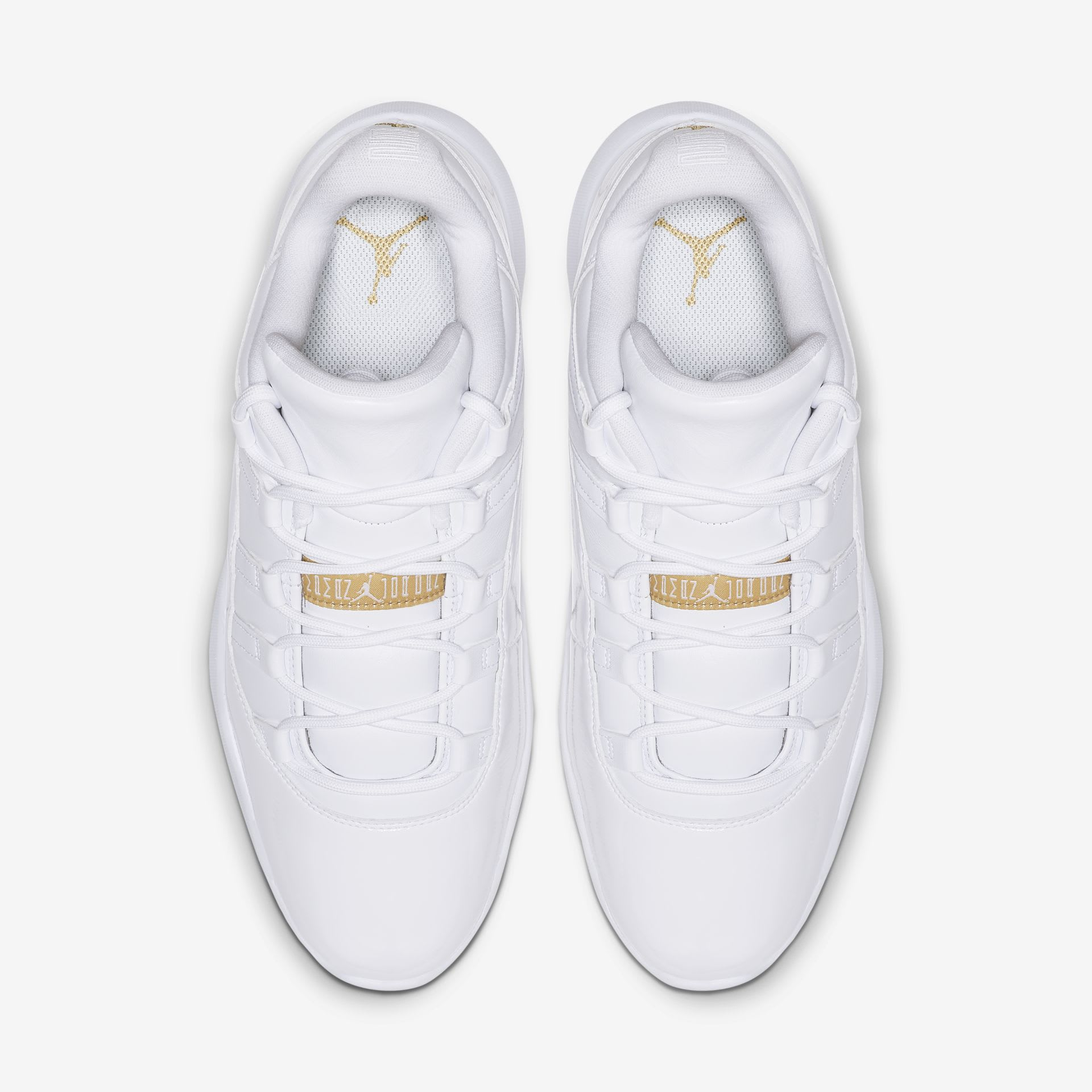 Air Jordan 11 Low Golf 'White/Metallic Gold' (Top)