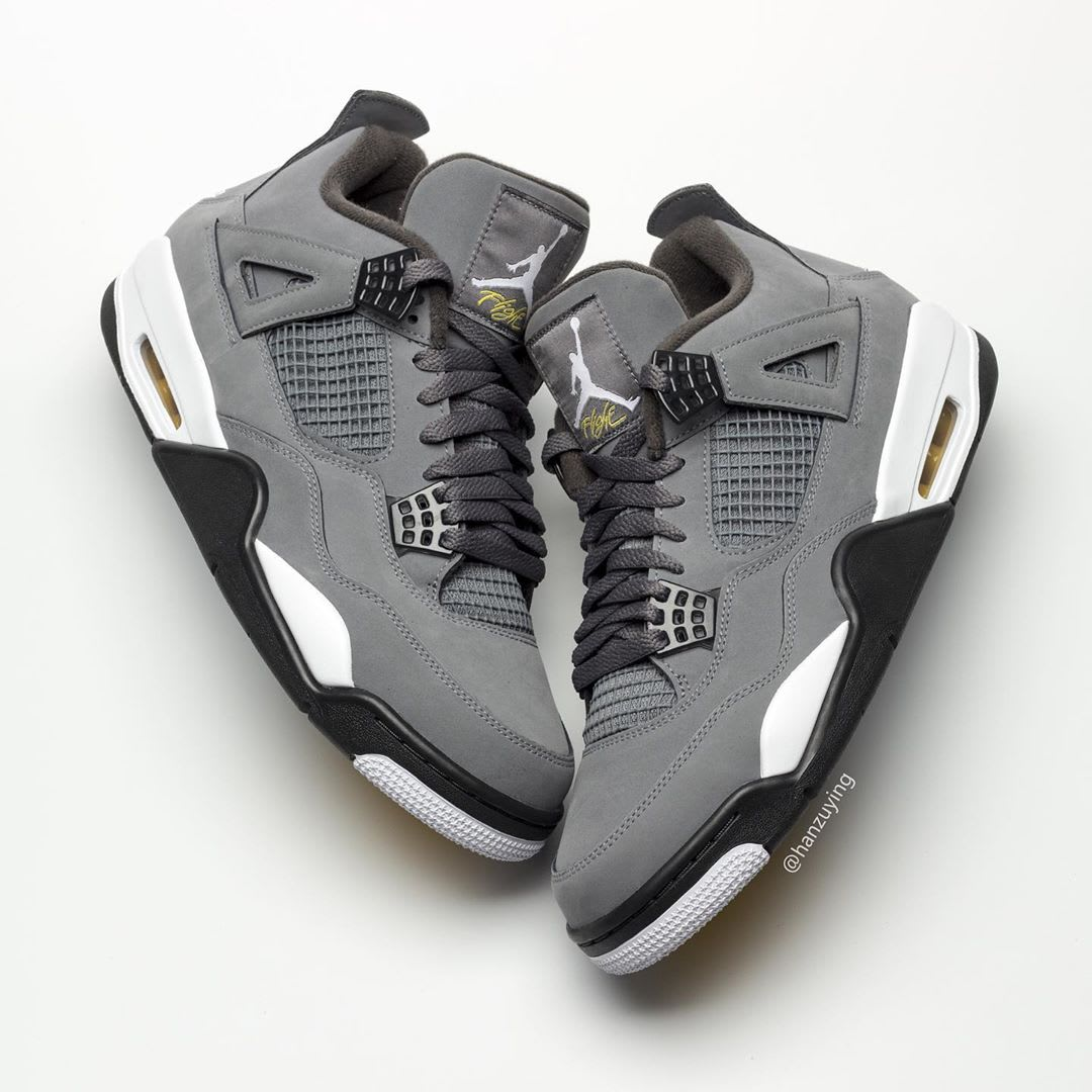 Air Jordan 4 IV Cool Grey 2019 Release Date 308497-007 Top Lateral