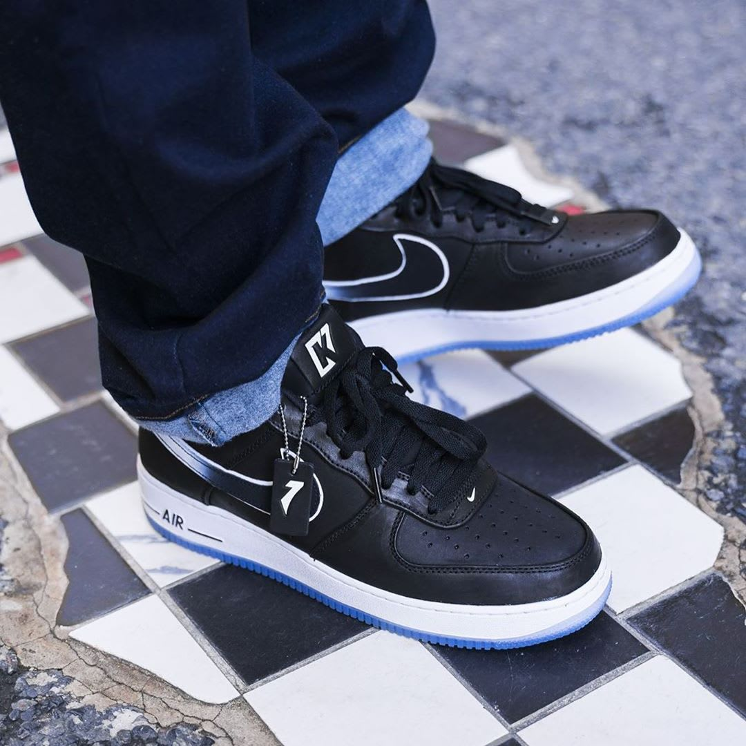 Colin Kaepernick x Nike Air Force 1 Release Date CQ0493-001 On-Foot Right