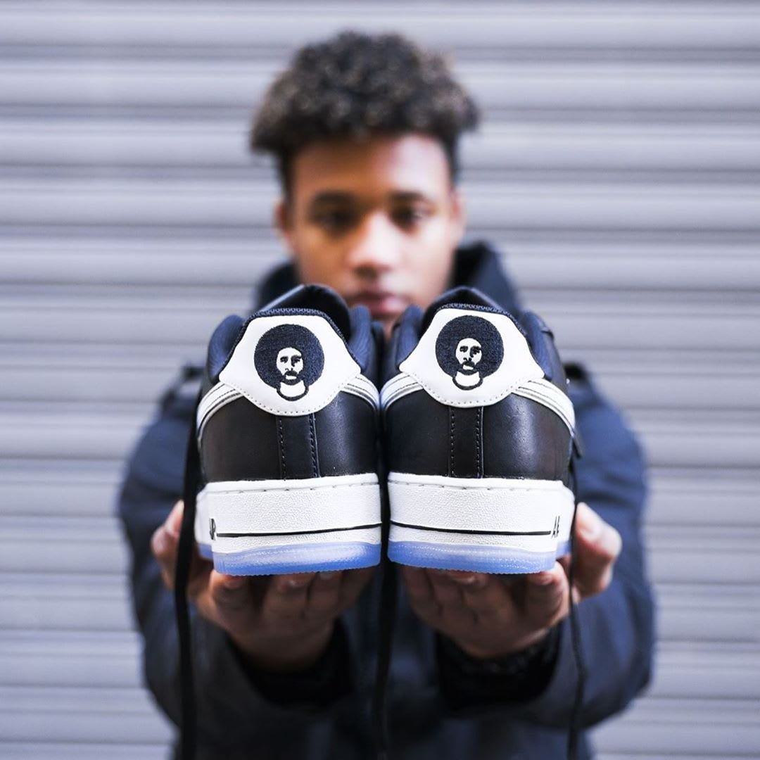 Colin Kaepernick x Nike Air Force 1 Release Date CQ0493-001 Heel