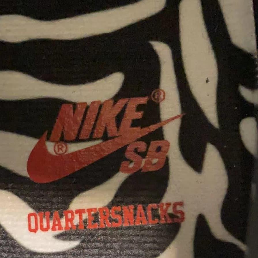 Quartersnacks x Nike SB Dunk Low 2021 Release Date Insole