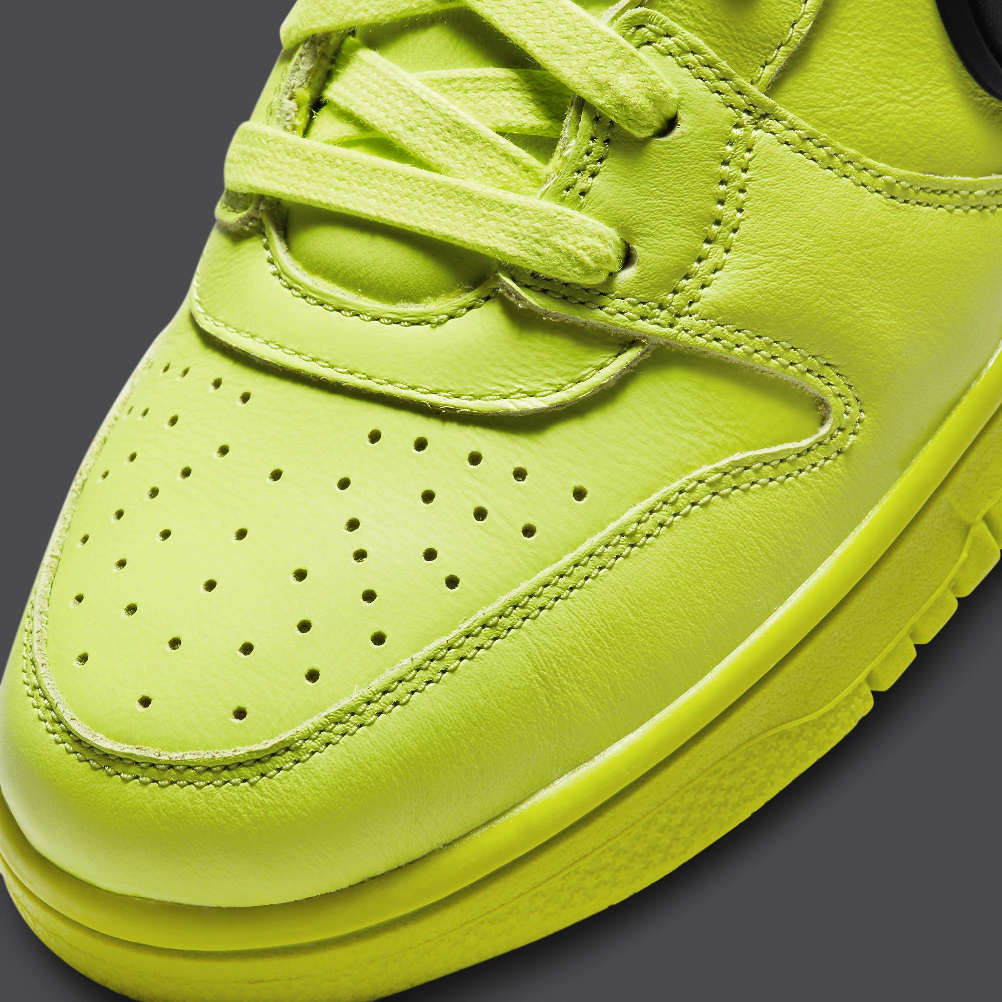 Ambush x Nike Dunk High Atomic Green Release Date CU7544-300 Toe Detail