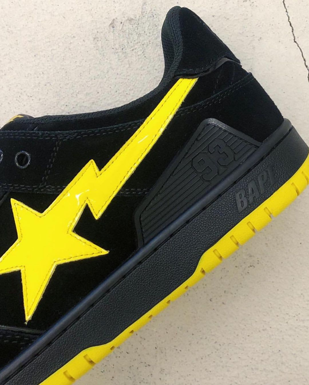 Bape Sk8 Sta Black/Yellow First Look