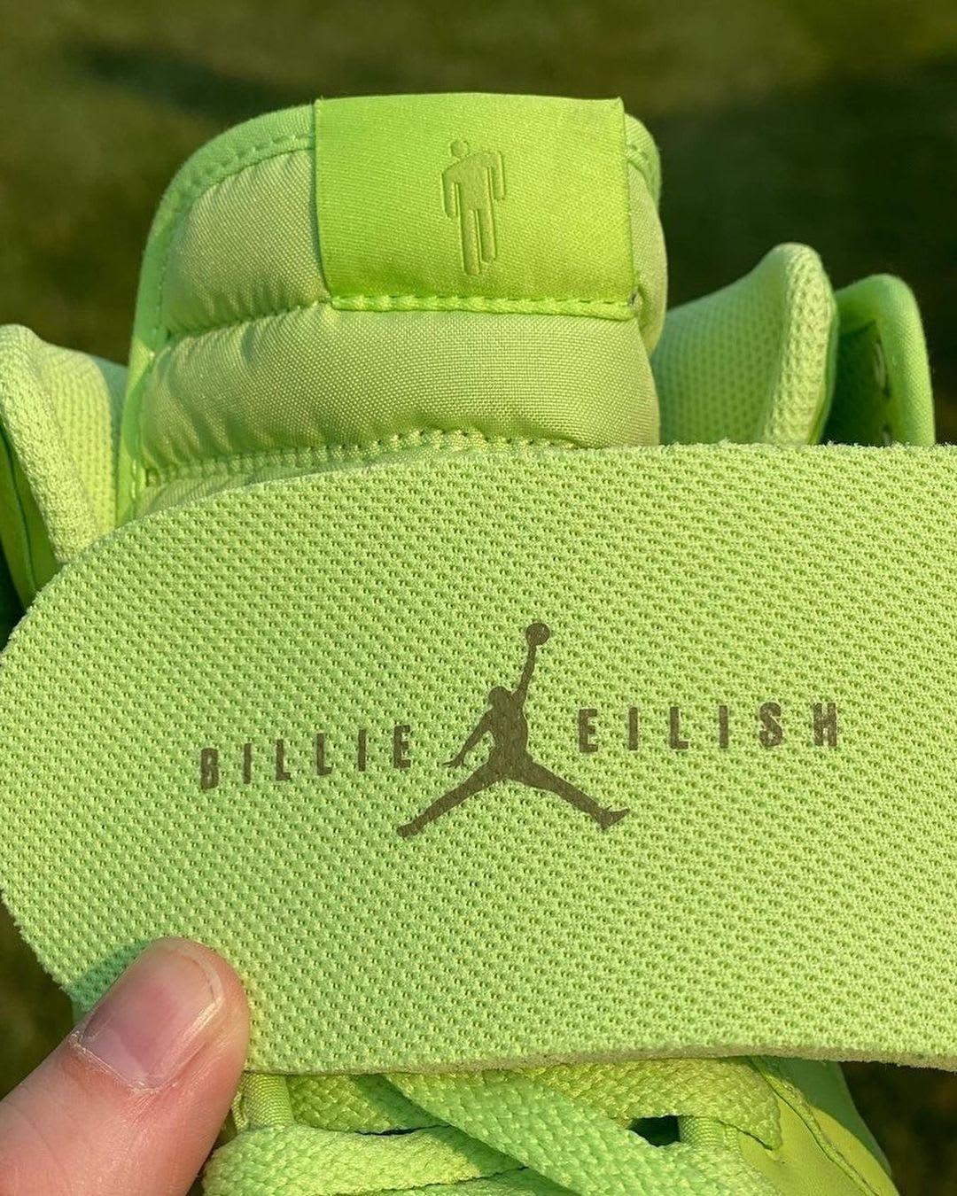 Billie Eilish x Air Jordan 1 KO 'Ghost Green' DN2857-330 (Insole)