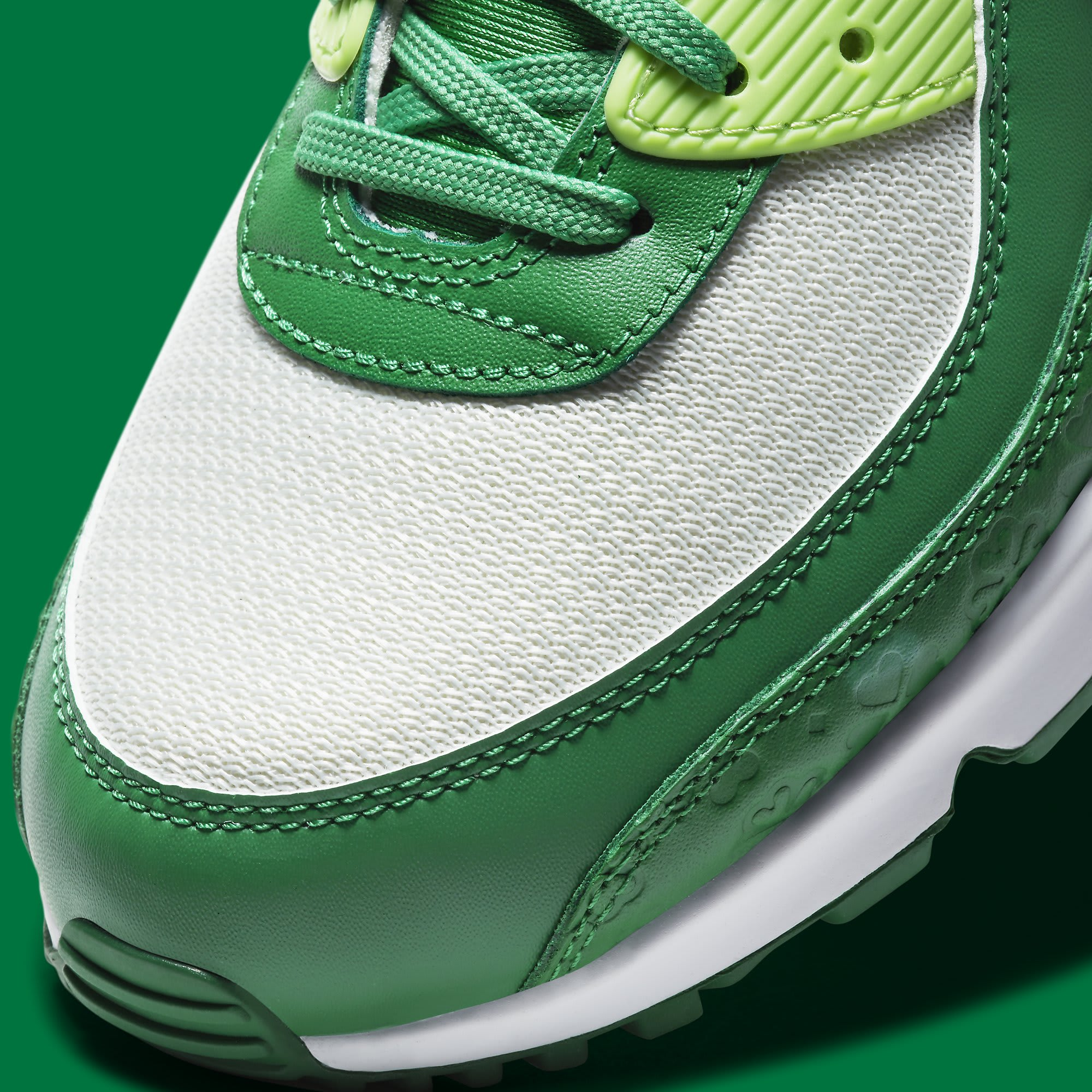 Nike Air Max 90 St. Patrick's Day Release Date DD8555-300 Toe Detail