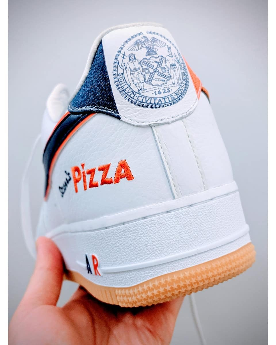 Scarr's Pizza x Nike Air Force 1 Low CN3424-100 (Heel)