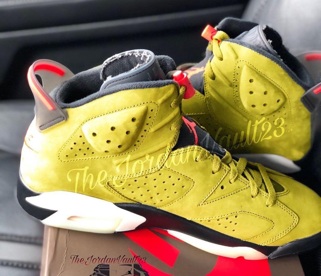 Travis Scott x Air Jordan 6 Mustard Release Date Medial