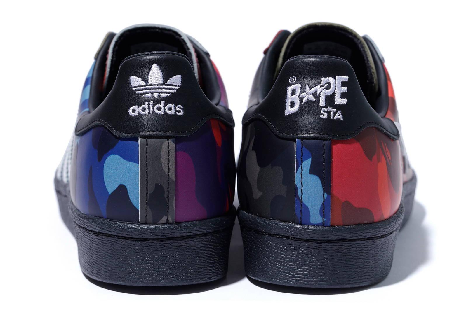 Bape x Adidas Originals Superstar 'Color Camo' Heel