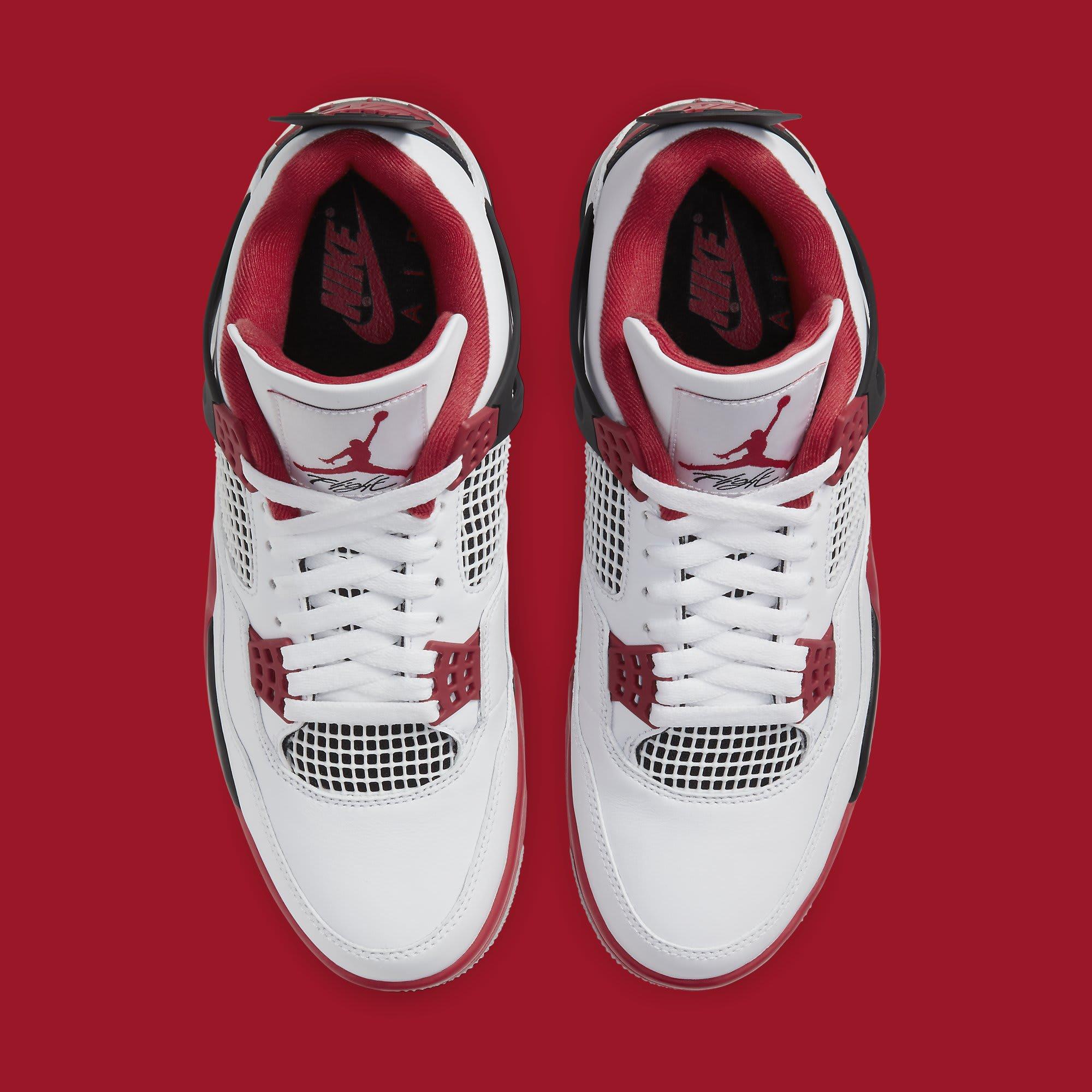 Air Jordan 4 IV Fire Red 2020 Release Date DC7770-160 Top
