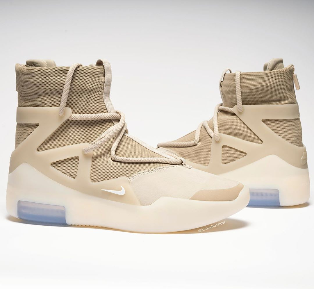 Nike Air Fear of God 1 Oatmeal Release Date AR4237-900 Lateral