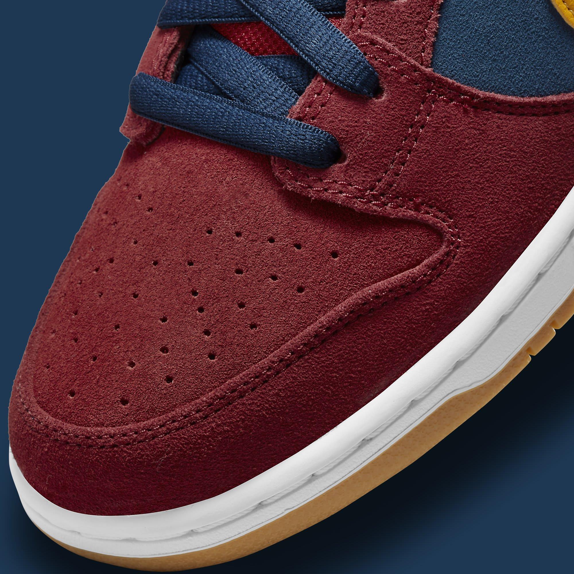 Nike SB Dunk Low Barcelona Release Date DJ0606-400 Toe