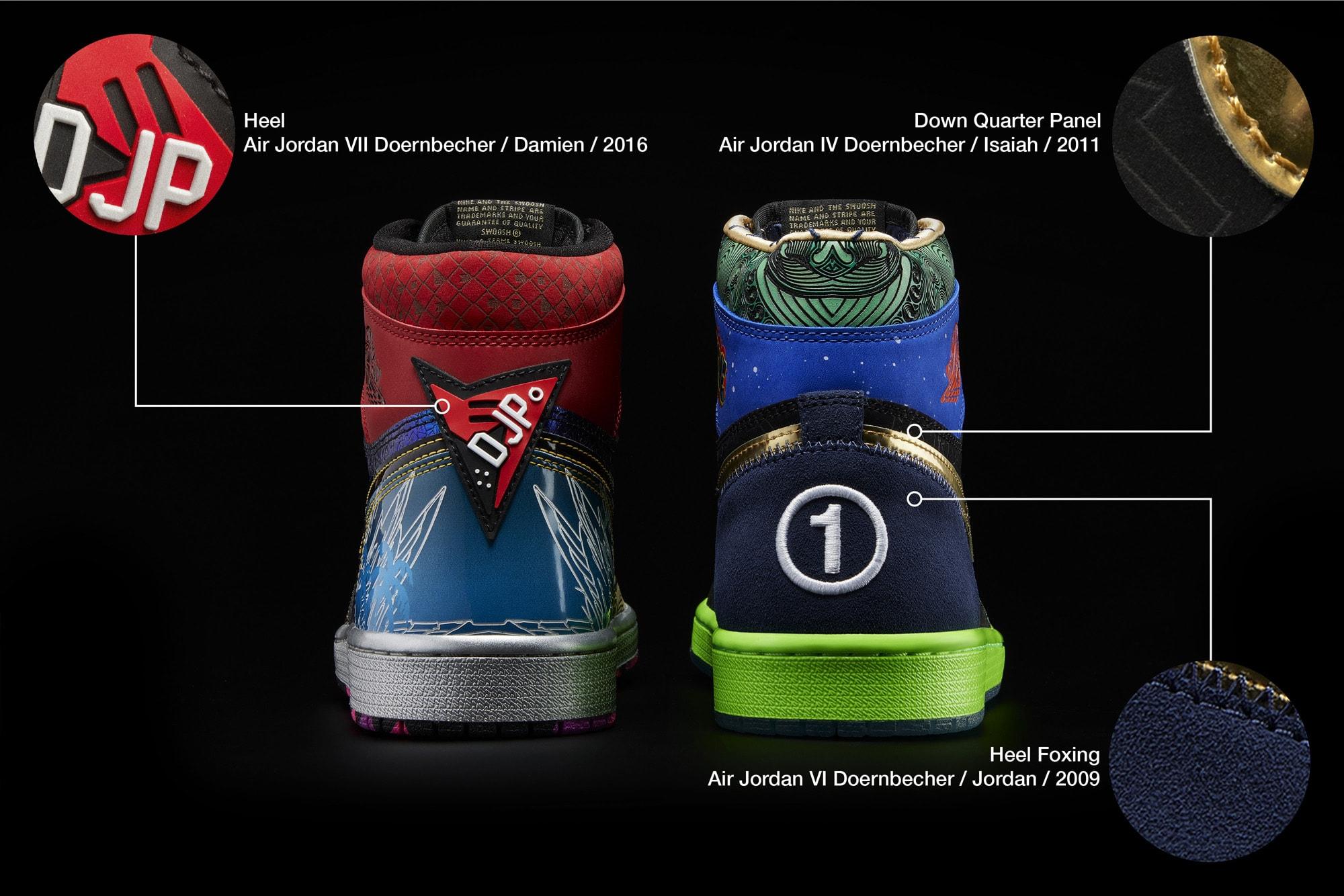 What The Air Jordan 1 Doernbecher Heel