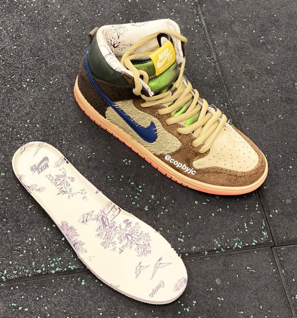 Concepts x Nike SB Dunk High 'Duck' Insole