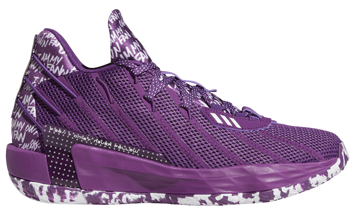 Adidas Dame 7 'Purple' Lateral