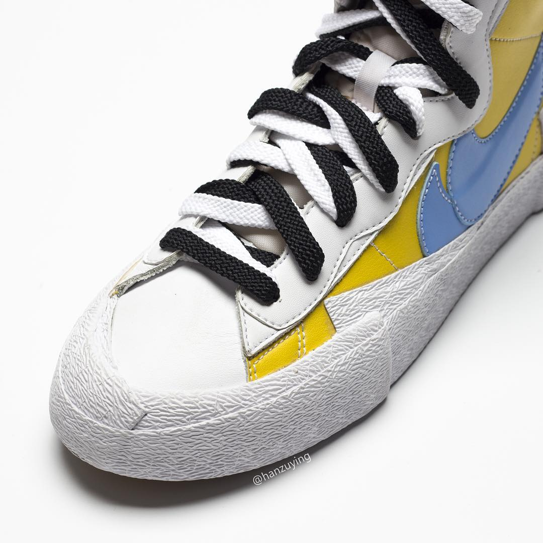 sacai x Nike Blazer High Yellow Toe Box
